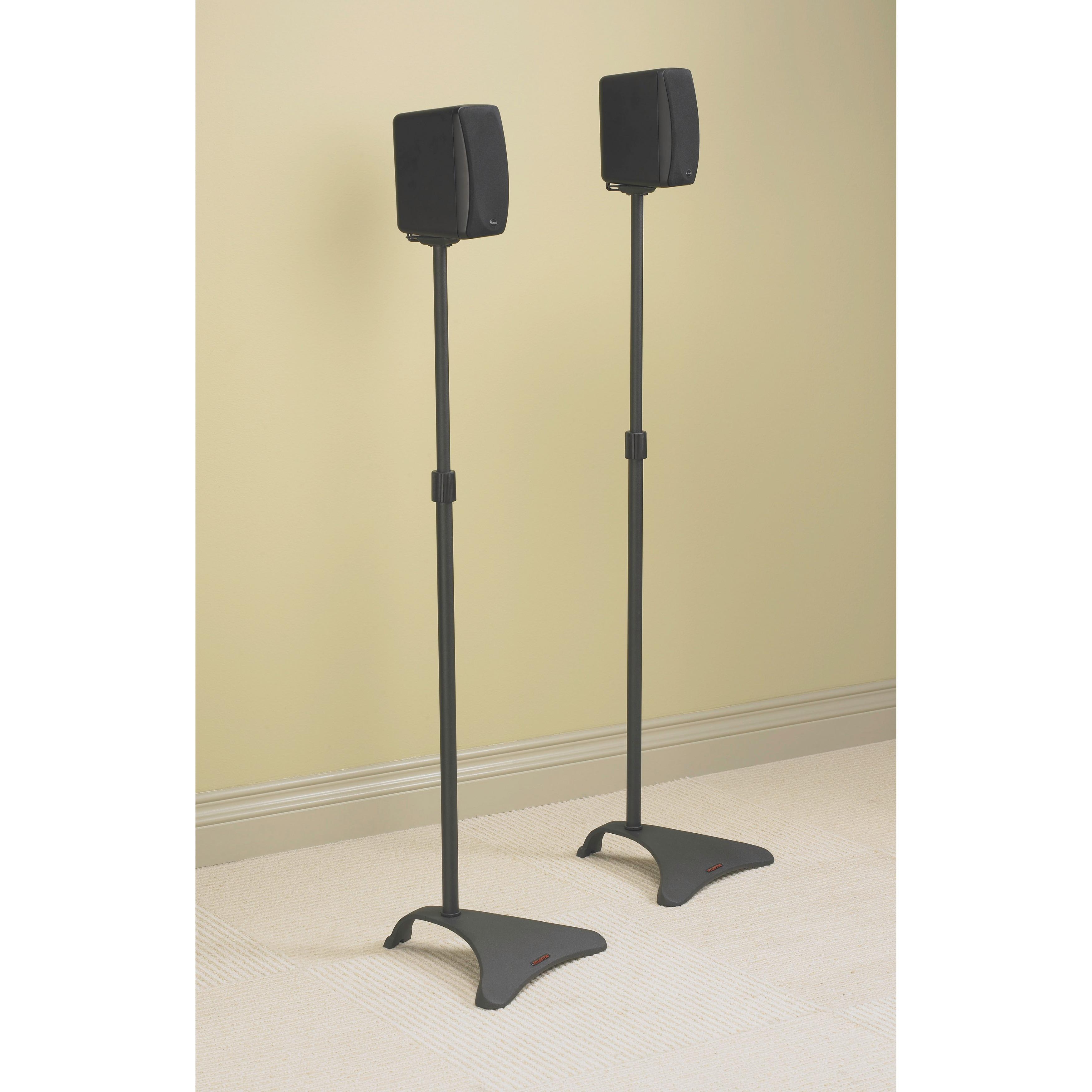 Shop Atlantic Adjustable Speaker Stand in Dark Titanium (Set of 2 ...