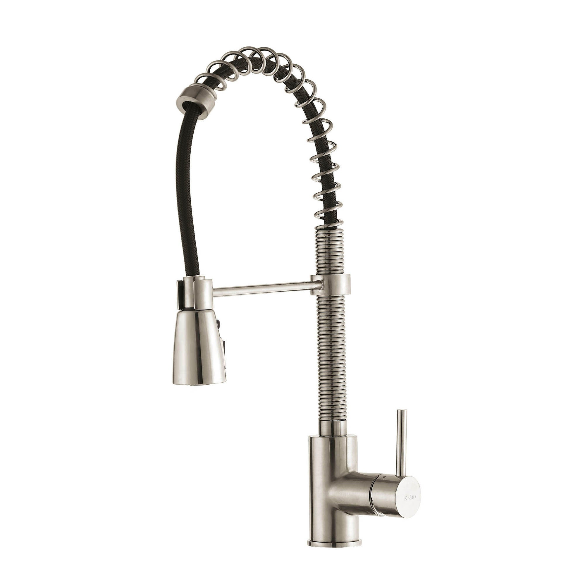 level customer rated handle high umxl kitchen helpful com nickel best faucet pull single pcr down in arch brushed reviews commercial amazon sprayer with faucets
