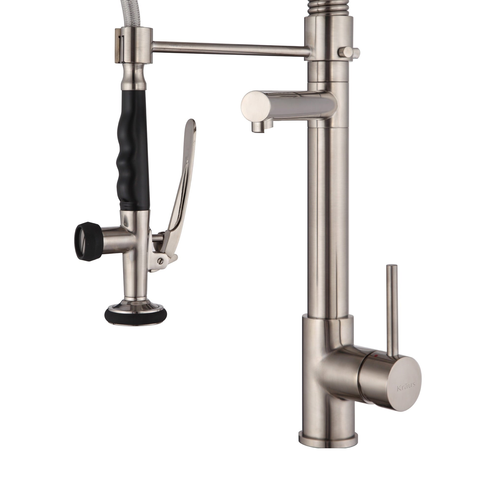 KRAUS Commercial-Style Single-Handle Kitchen Faucet with Pull Down ...