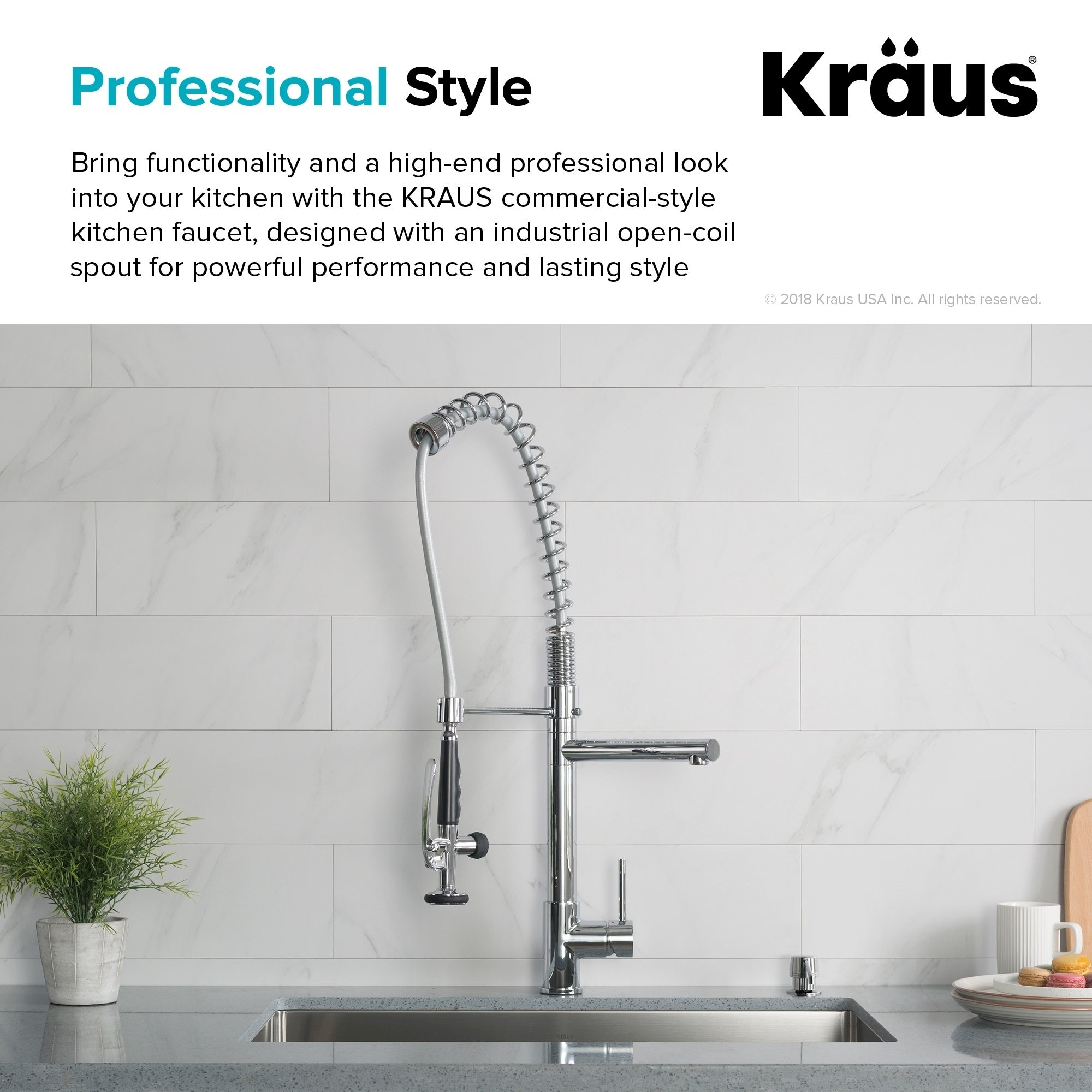Kraus Kpf 1602 Commercial Style 1 Handle 2 Function Pre Rinse Sprayhead Pull Down Kitchen Faucet Free Shipping Today 3233814