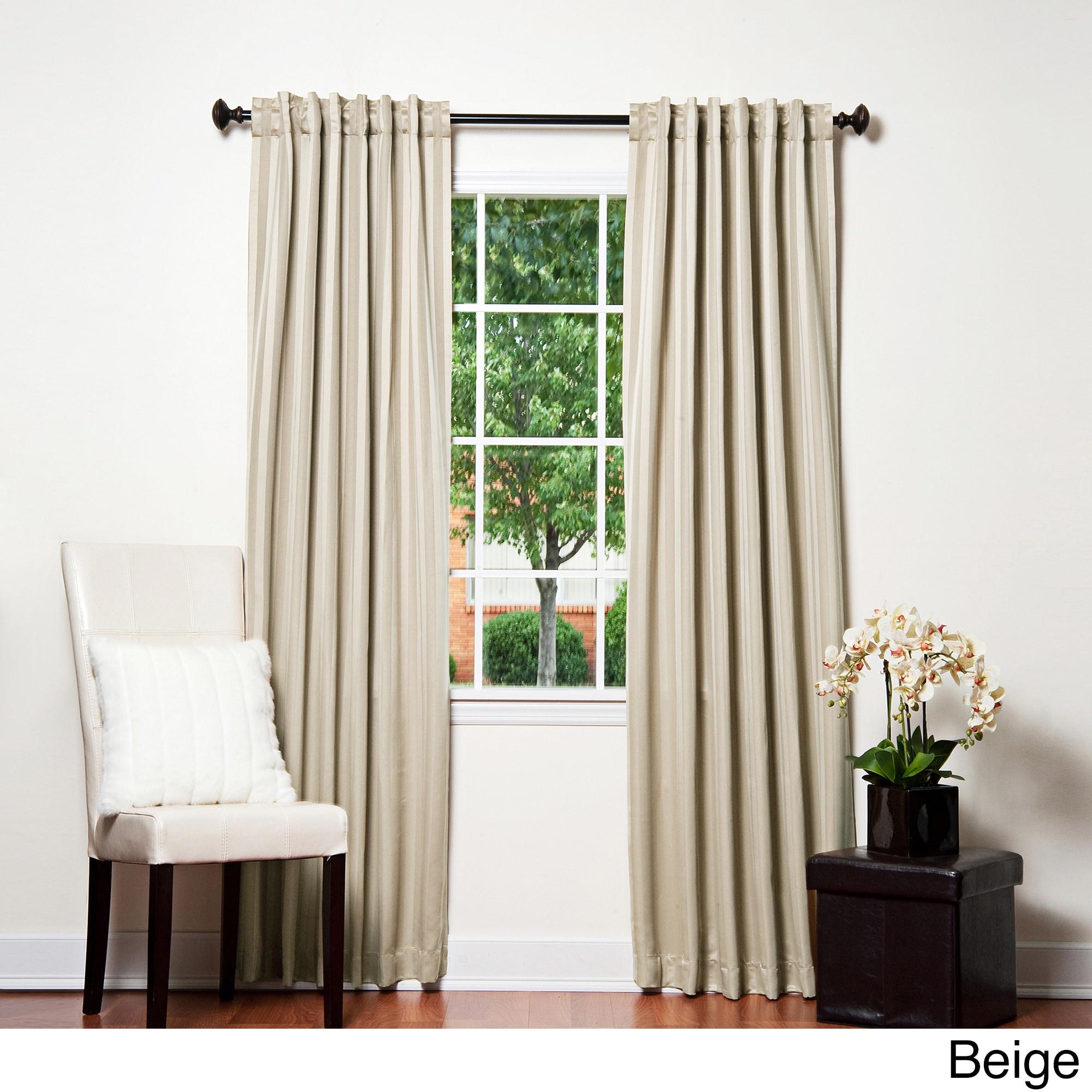 Shop Aurora Home Hotel Stripe 84 Inch Insulated Blackout Curtains
