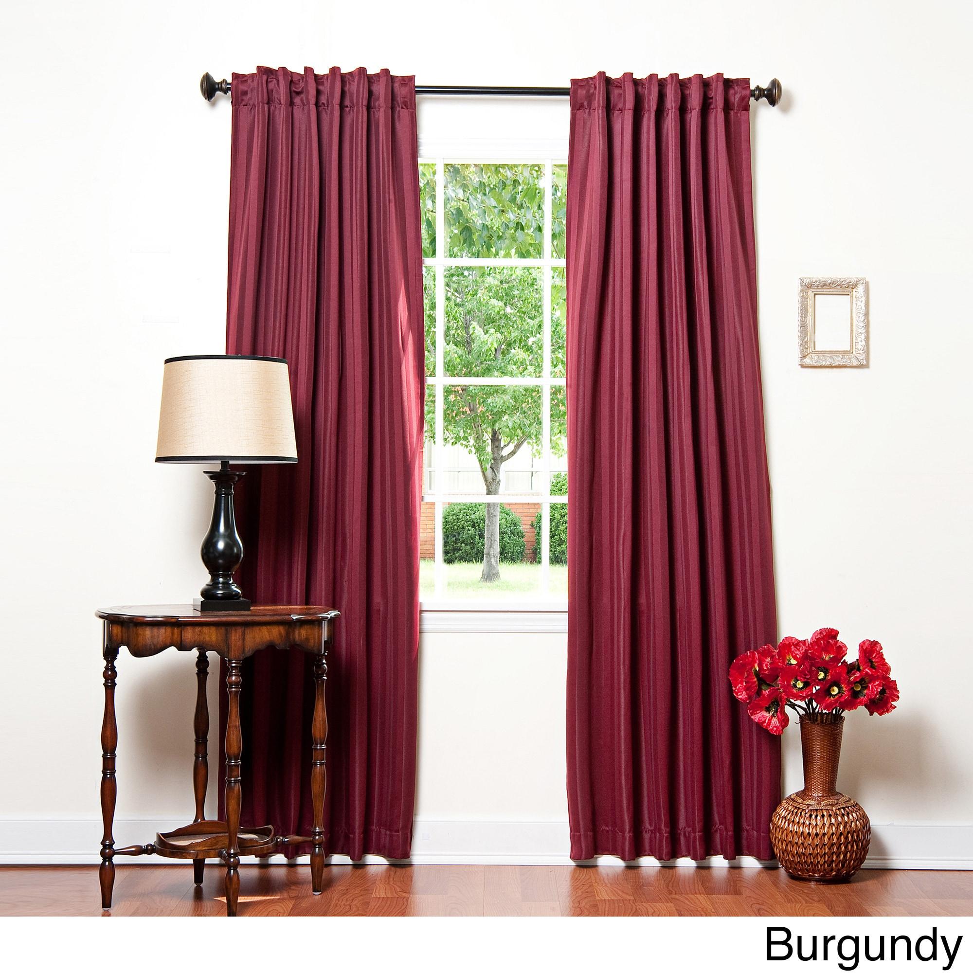 Aurora Home Hotel Stripe 84 Inch Insulated Blackout Curtains  52