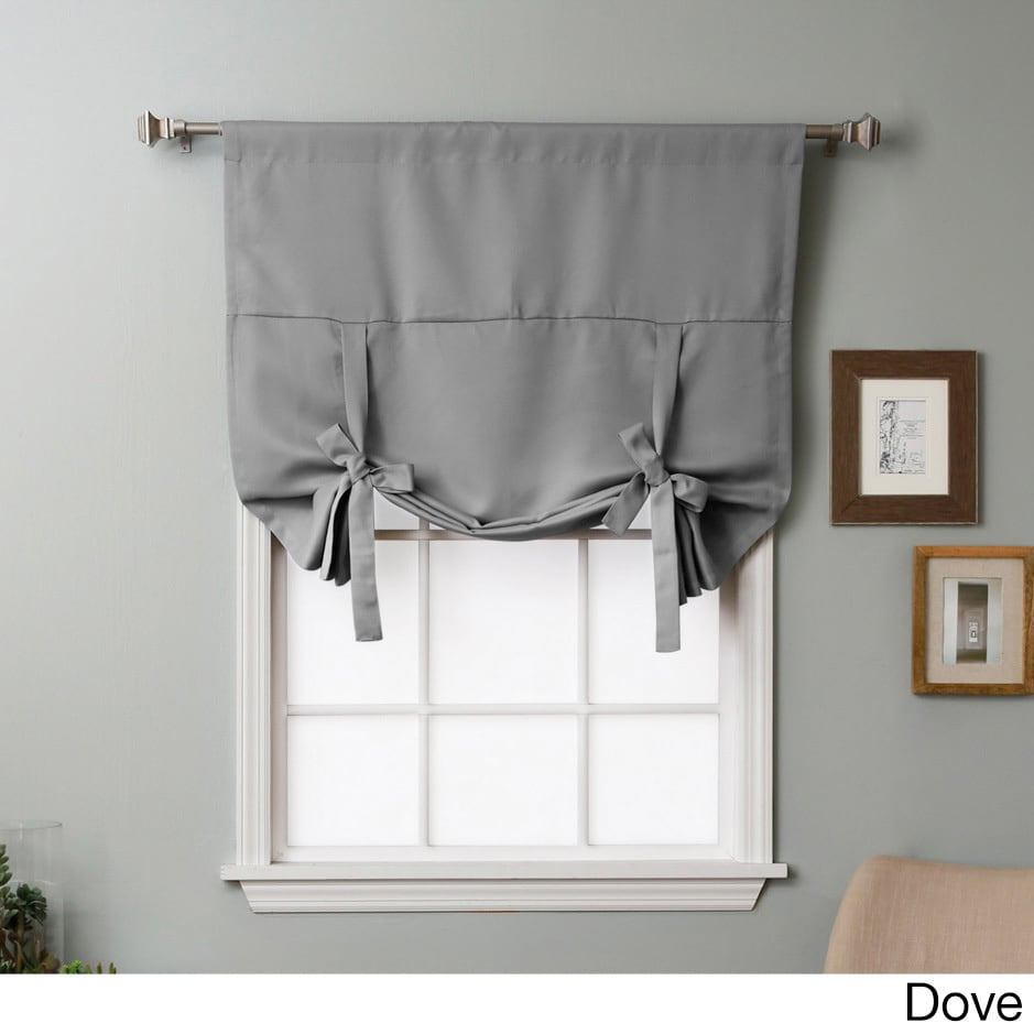 Aurora Home Solid Insulated 63 inch Blackout Tie Up Shade Free