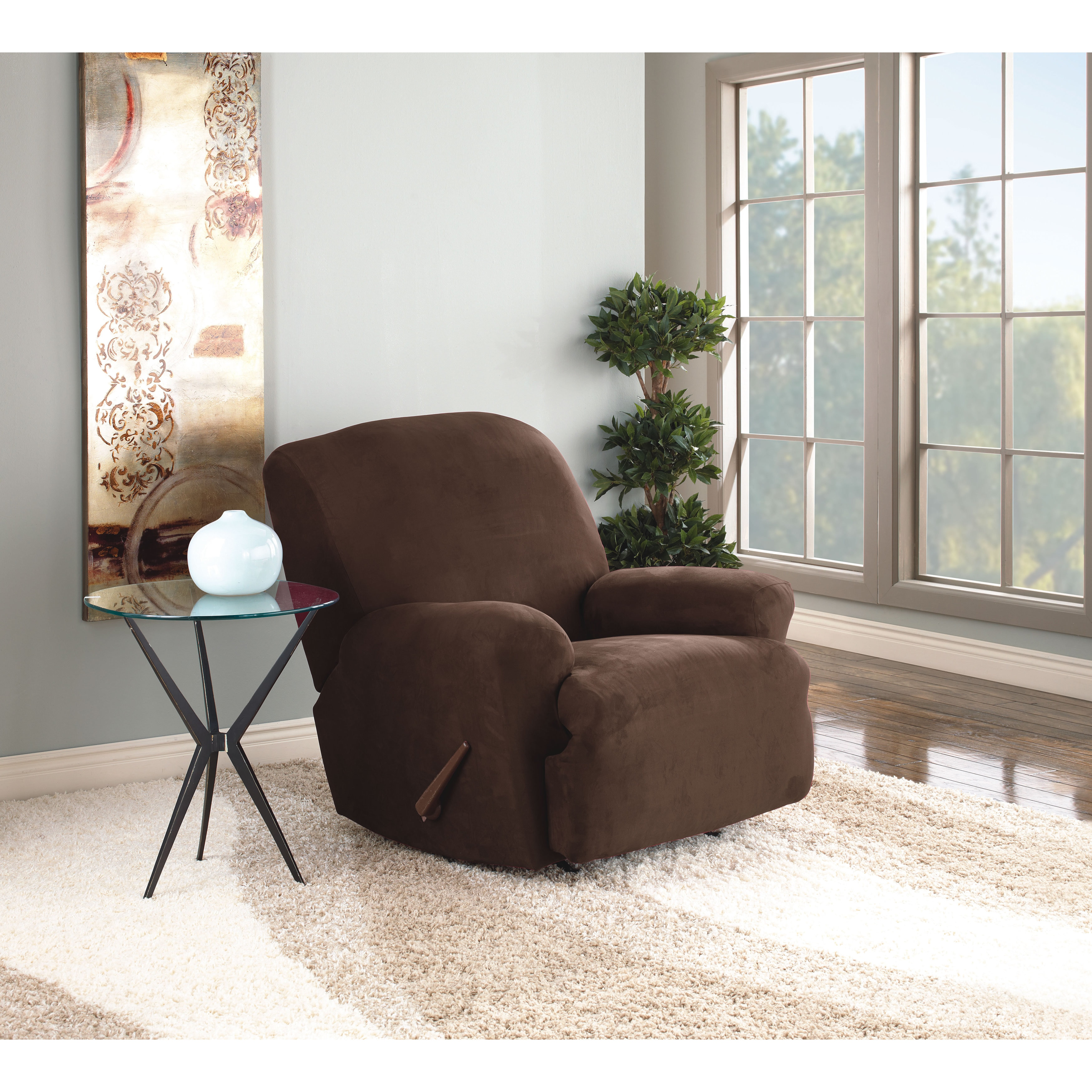sure at slipcover slipcovers options recliner home prices fit nextag stretch taupe compare garden shopping striped pinstripe products