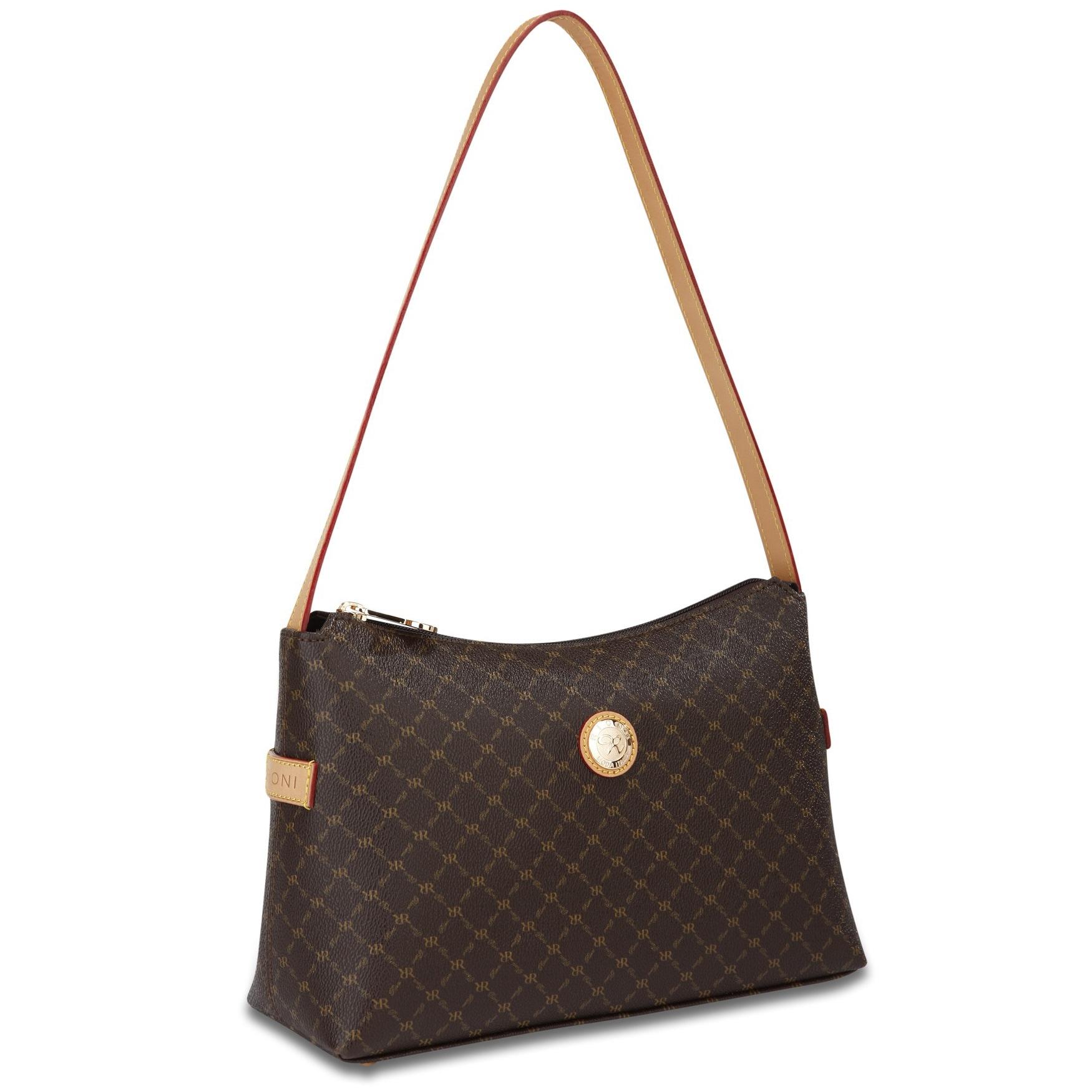 Shop Rioni Signature Top Zip Shoulder Handbag - Free Shipping Today -  Overstock.com - 3255098 fc76042f59