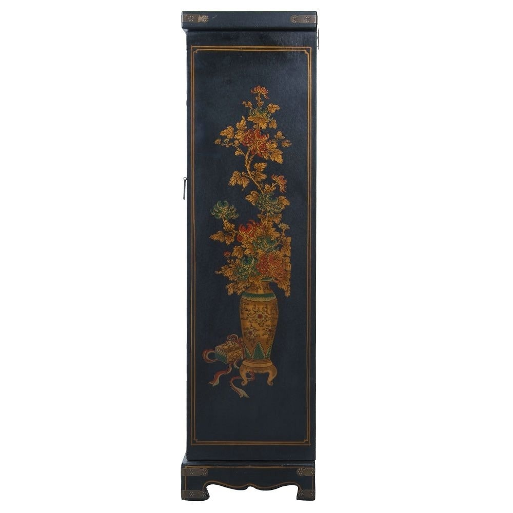 Handpainted Oriental Jewelry Armoire Black Free Shipping Today