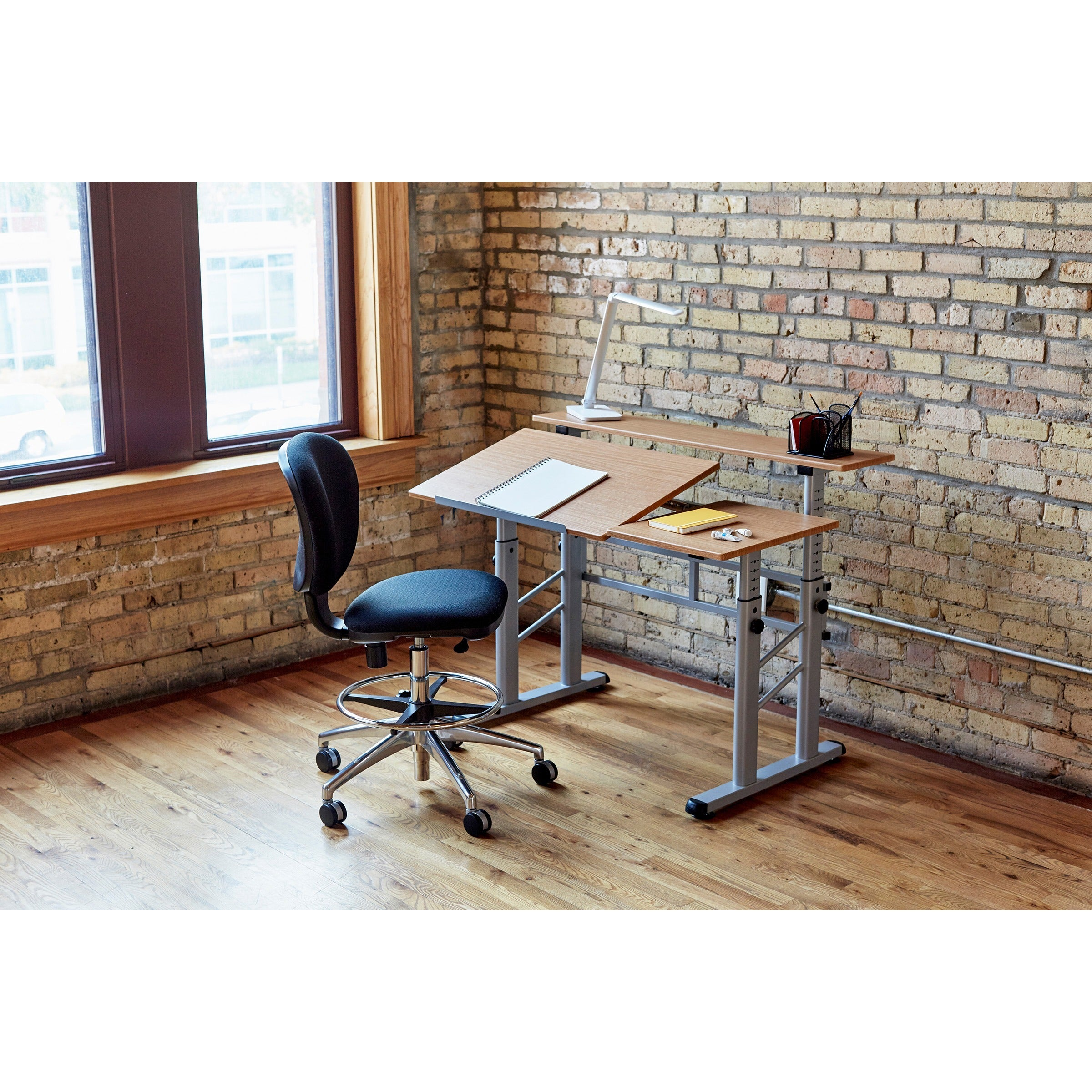 drafting pin designs table the side efficient advanced with shelf studio futura
