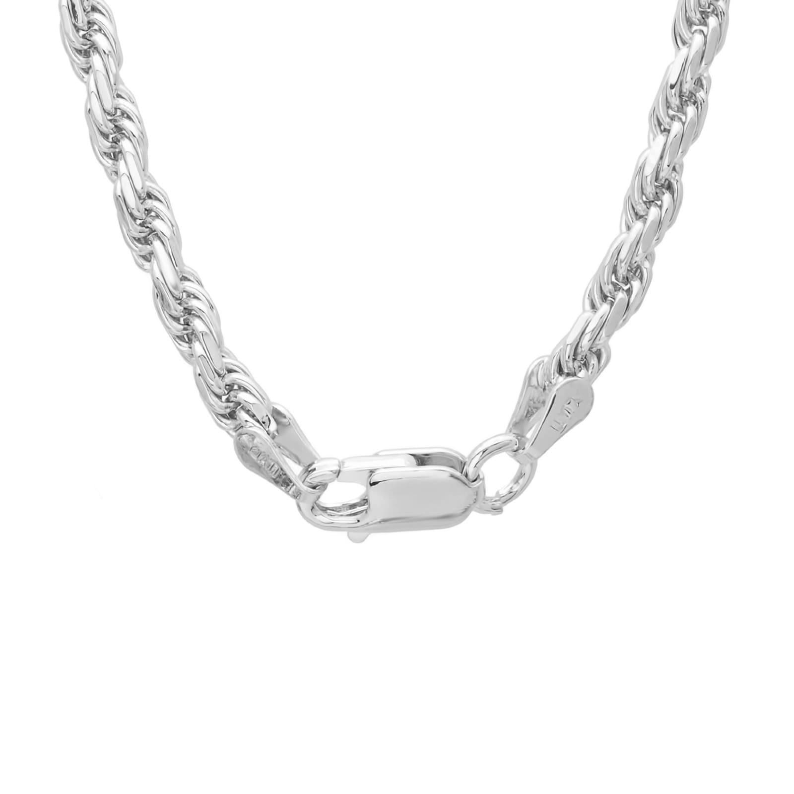 ce870a12d2f2e Roberto Martinez Sterling Silver 24-inch Diamond-Cut Rope Chain (2.5mm)