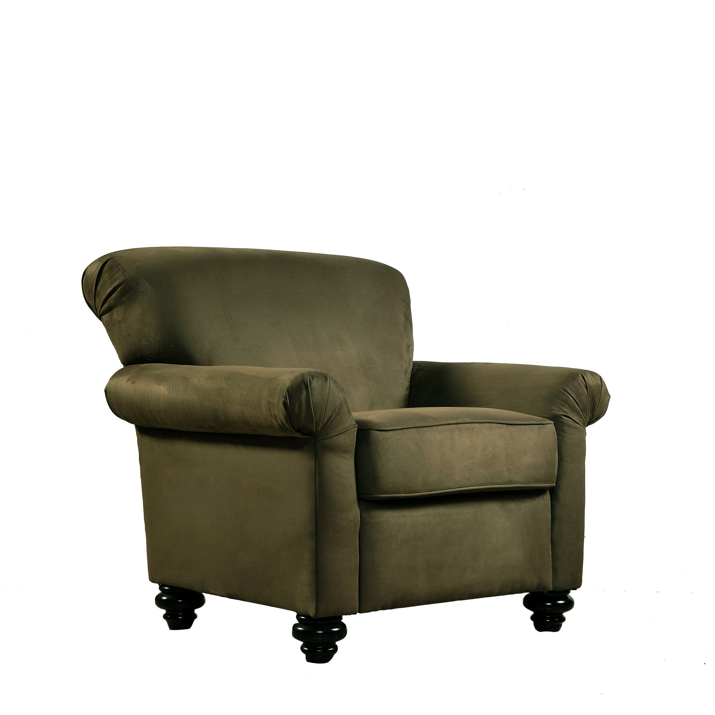 Shop Handy Living Capri Moss Green Microfiber Arm Chair And Ottoman   On  Sale   Free Shipping Today   Overstock.com   3281661