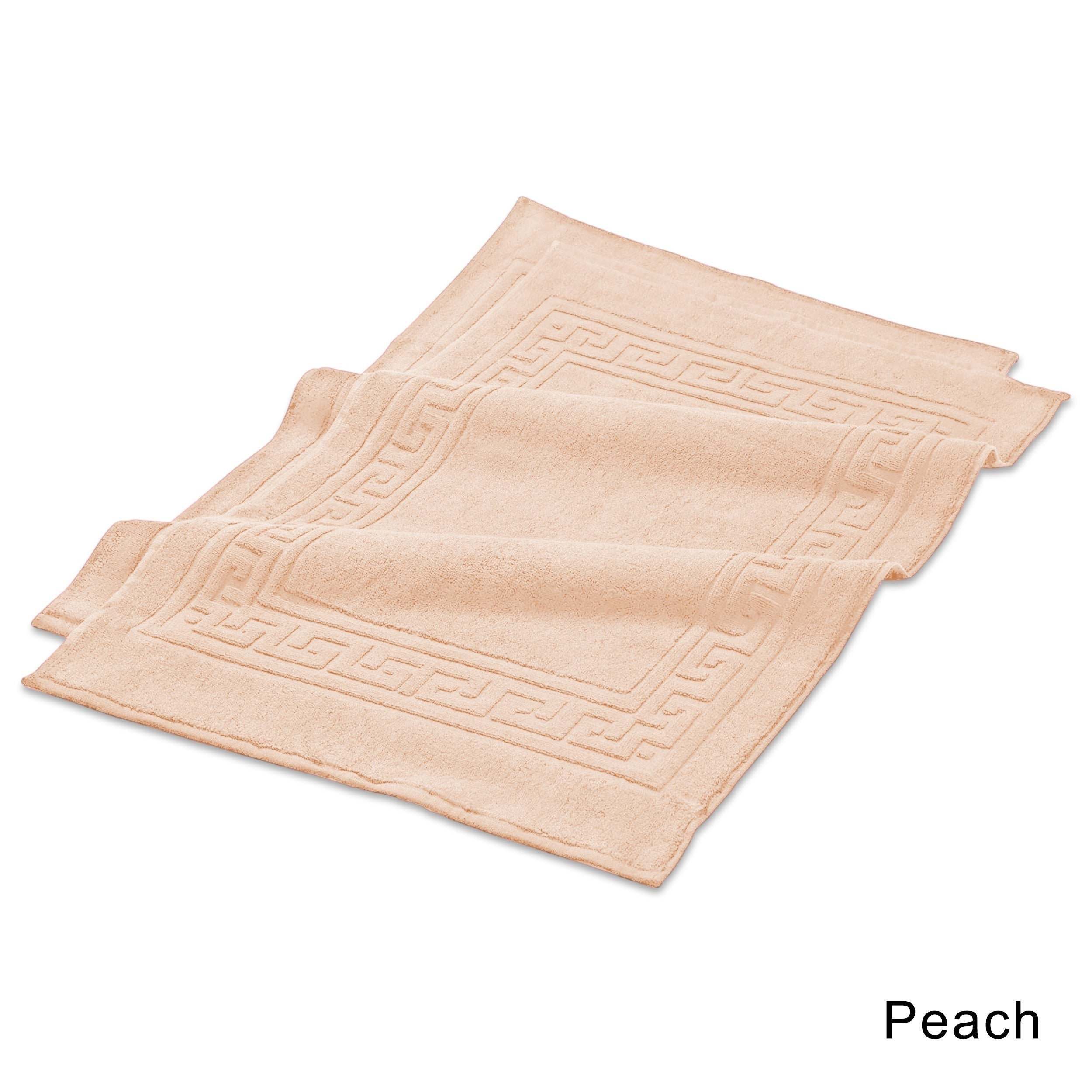 Shop Superior Plush Absorbent 600 GSM Combed Cotton Bath Mat Set Of 2
