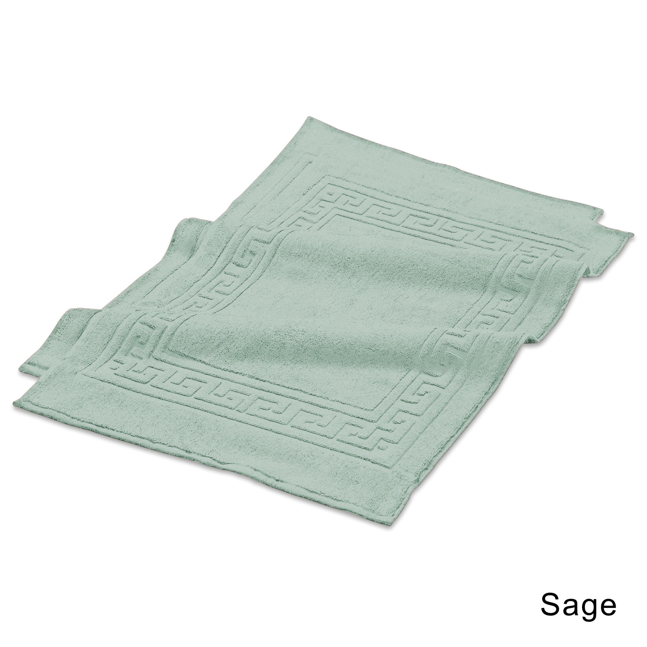 shop superior plush absorbent 600 gsm combed cotton bath mat set rh overstock com