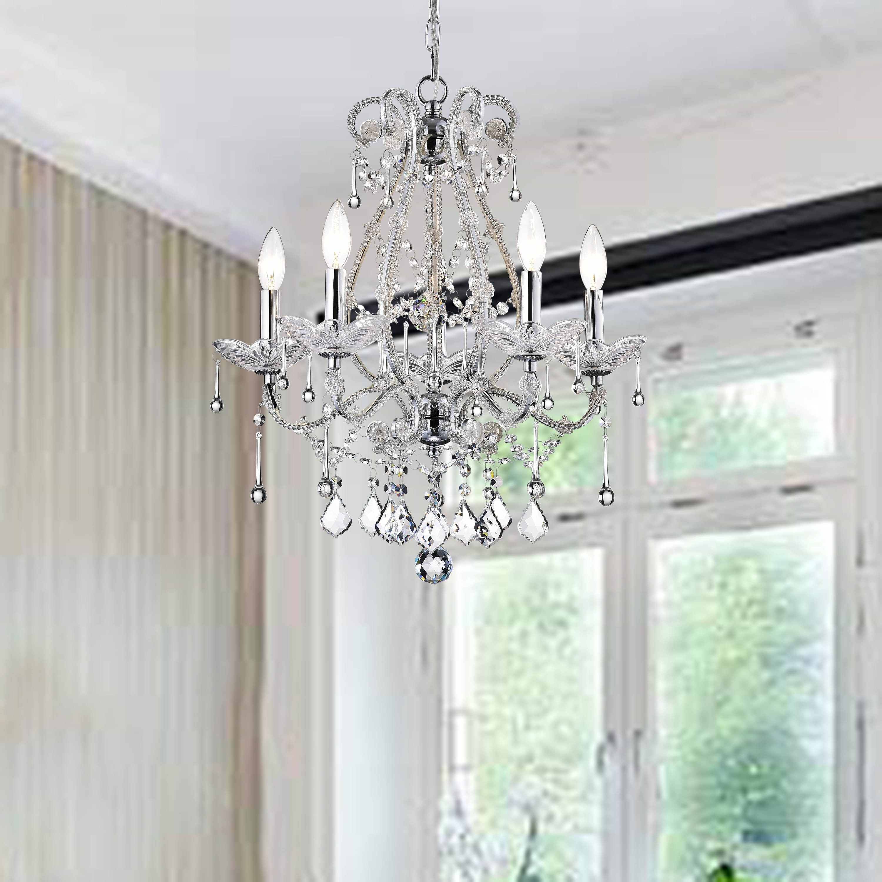 Crystal and iron five light chandelier free shipping today crystal and iron five light chandelier free shipping today overstock 11387588 arubaitofo Images