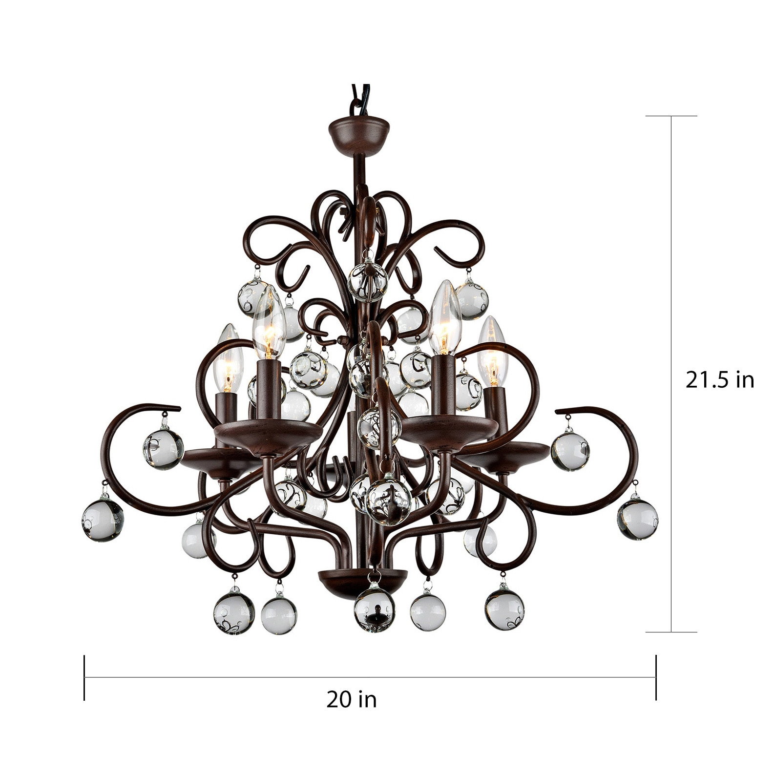 shop wrought iron and crystal 5 light chandelier on sale free House Electrical Wiring Basics shop wrought iron and crystal 5 light chandelier on sale free shipping today overstock 3285774