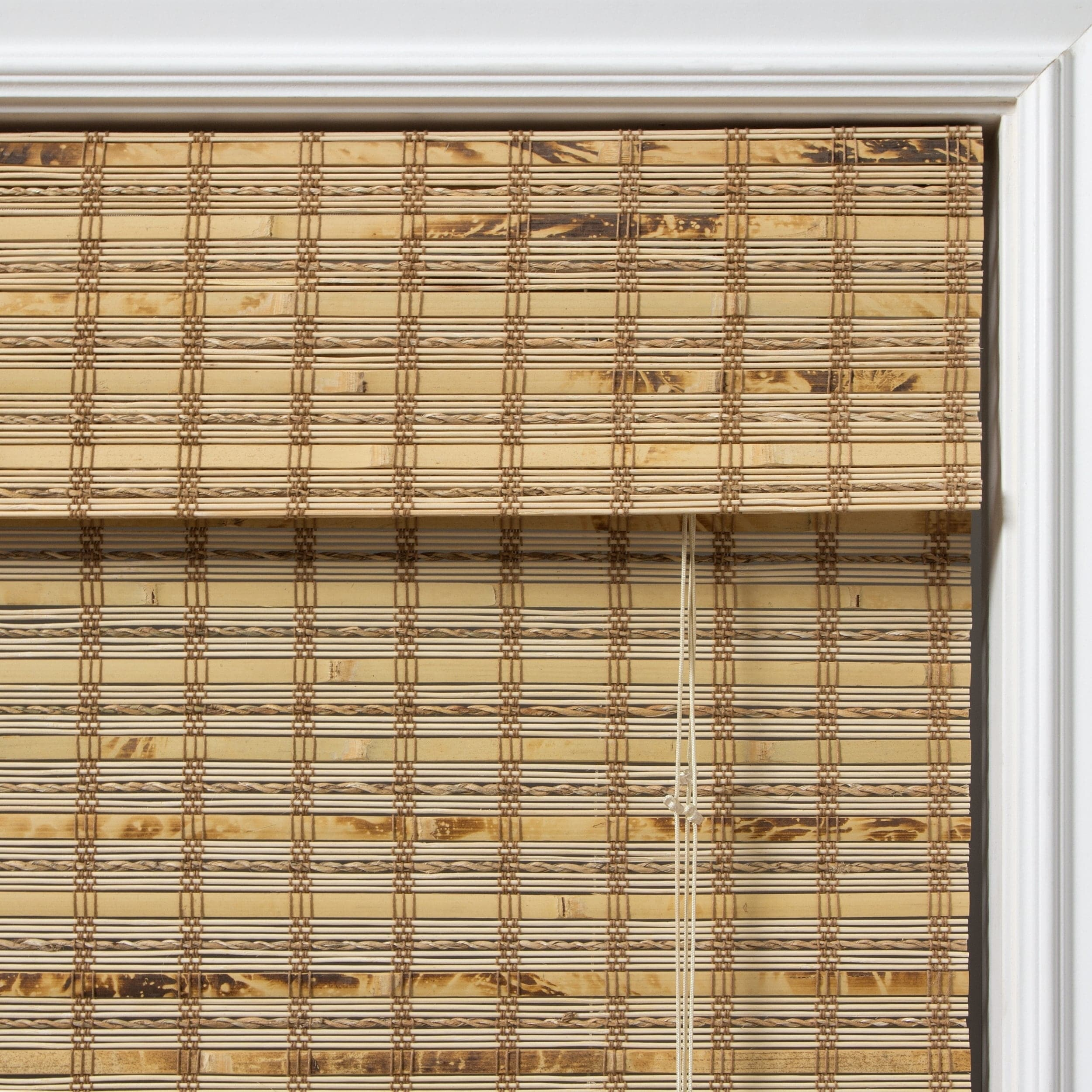 blind blinds bamboo flattened inc hyman raised driftwood window new shades roman cordless product