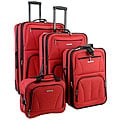 Rockland Red 4-piece Expandable Luggage Set