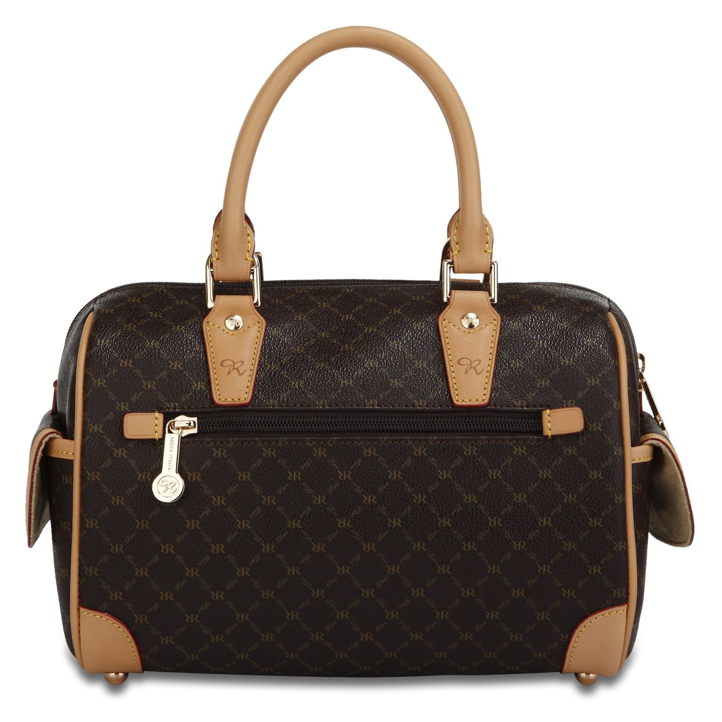 1129ef7201 Shop Rioni Signature Small Boston Bag - Free Shipping Today - Overstock -  3298120