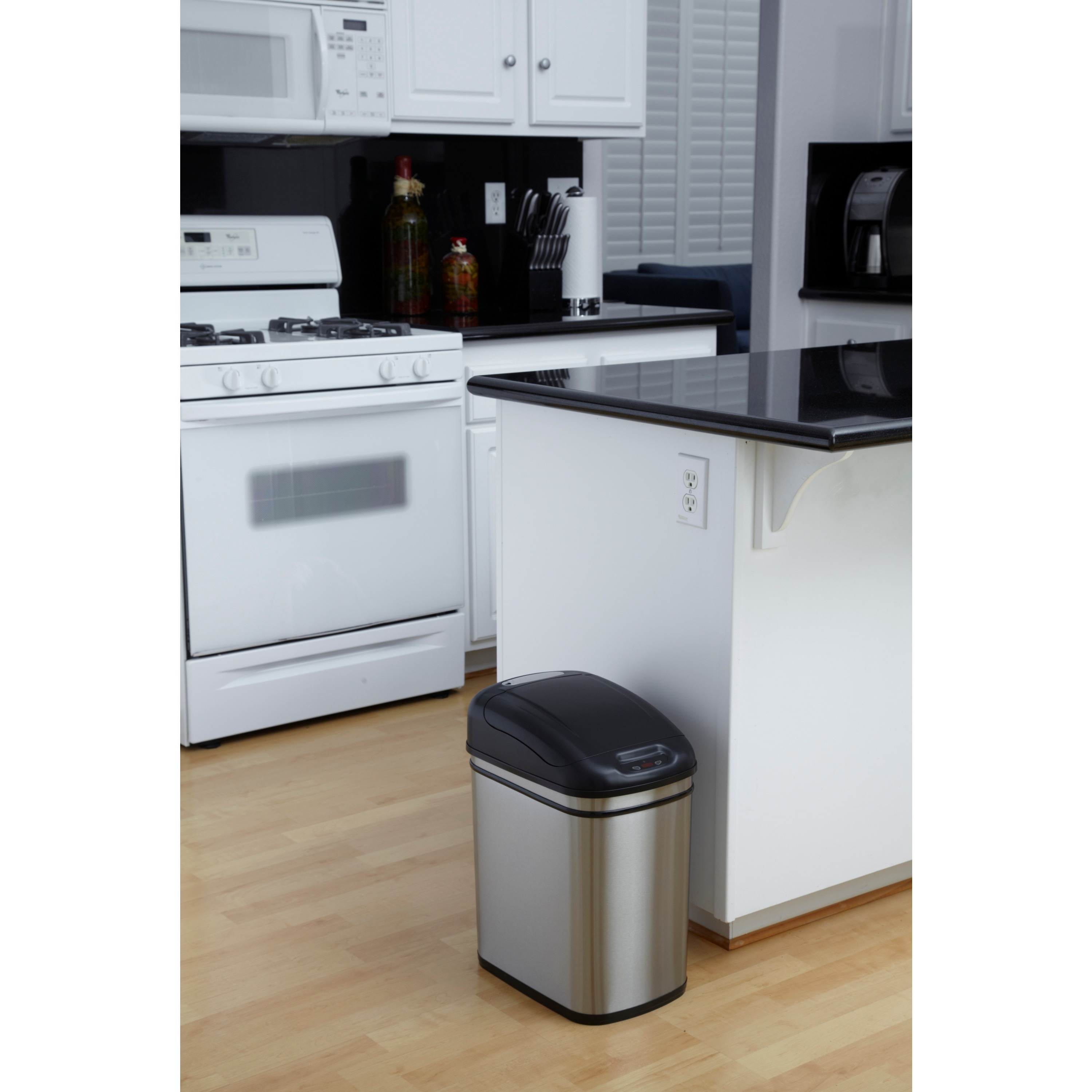 Shop Stainless Steel Motion Sensor 6.3-gallon Trash Can - On Sale ...