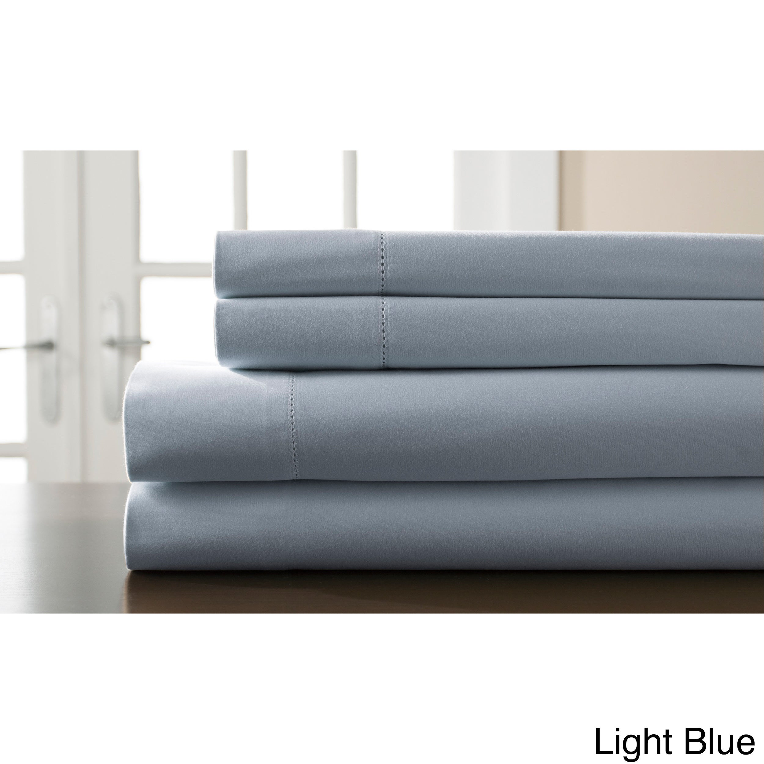 Genial Shop Hemstitch 400 Thread Count Cotton Sateen Weave Solid Color Sheet Set    On Sale   Free Shipping On Orders Over $45   Overstock.com   11402894