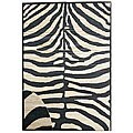Zebra Rayon from Bamboo Rug (6' x 9')