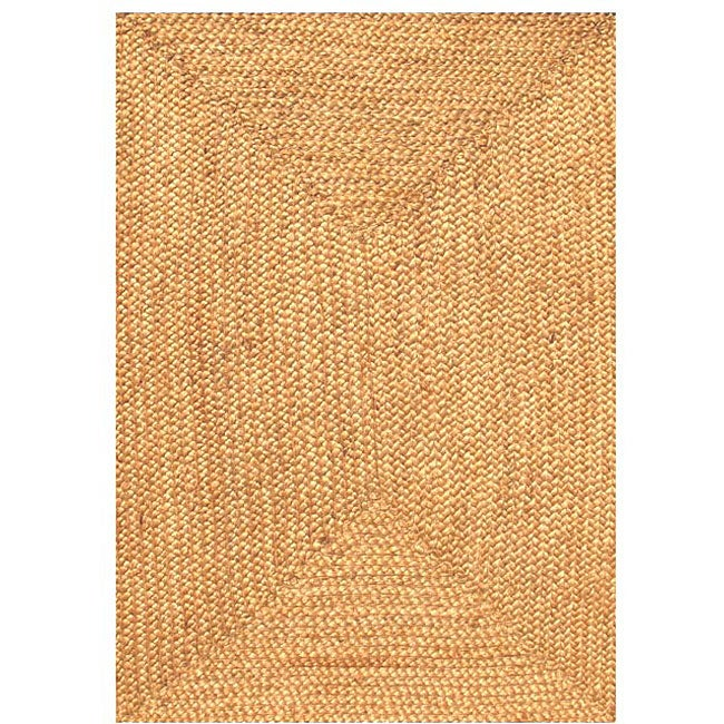 Acura Homes Handmade Braided Beige Jute Rug 6 X 9 Free Shipping Today 3307991