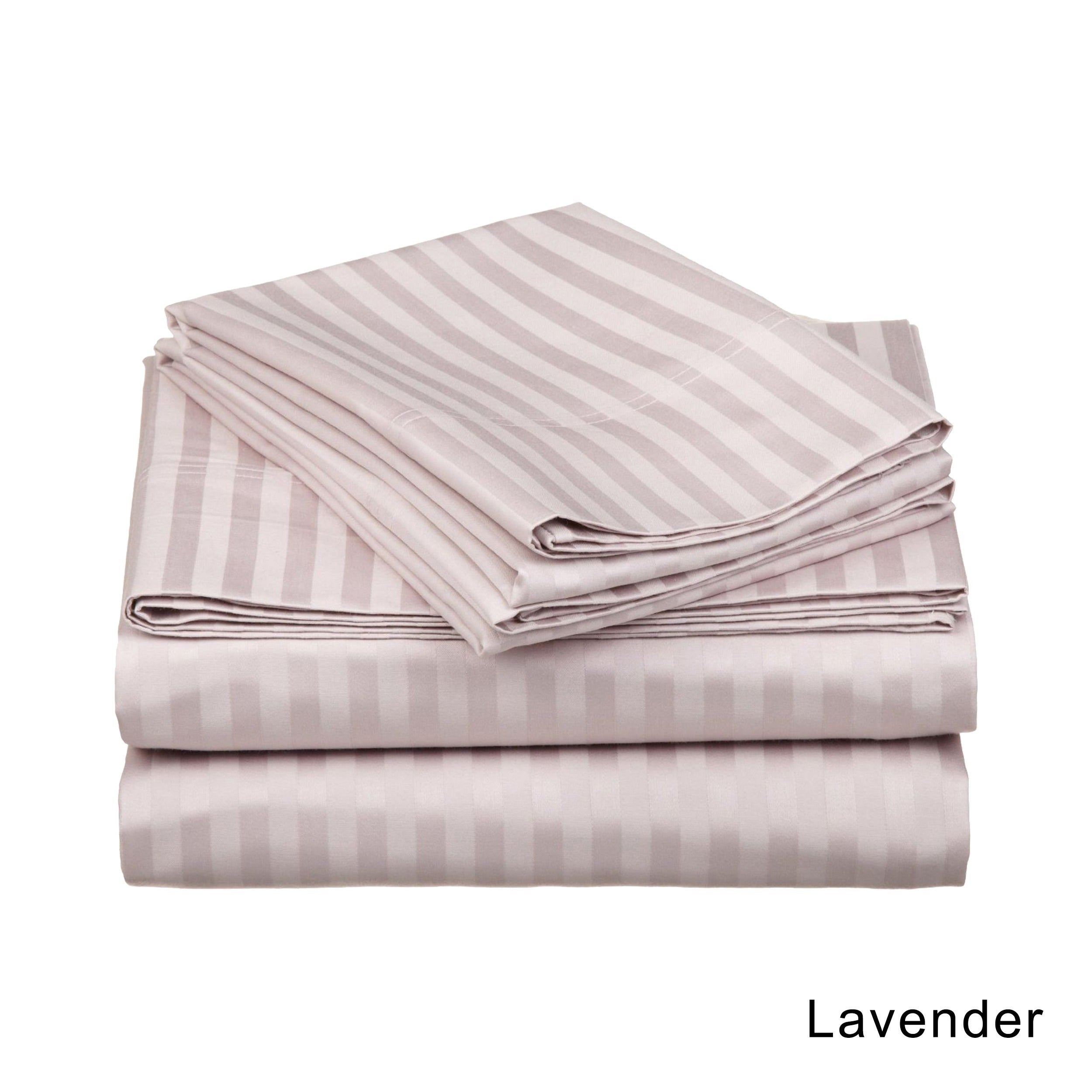 Superior Egyptian Cotton 650 Thread Count Stripe Deep Pocket Sheet Set On Free Shipping Today 3309357
