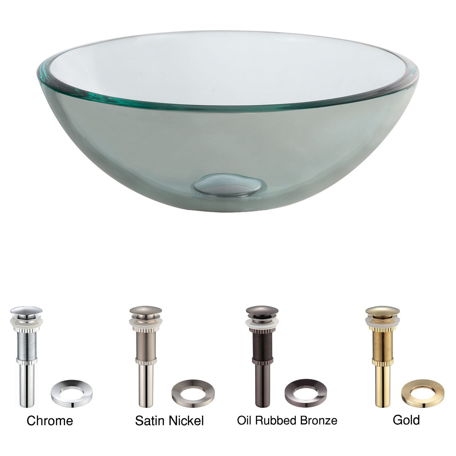 Attirant Shop KRAUS 14 Inch Glass Vessel Sink In Clear   Free Shipping Today    Overstock.com   3314364