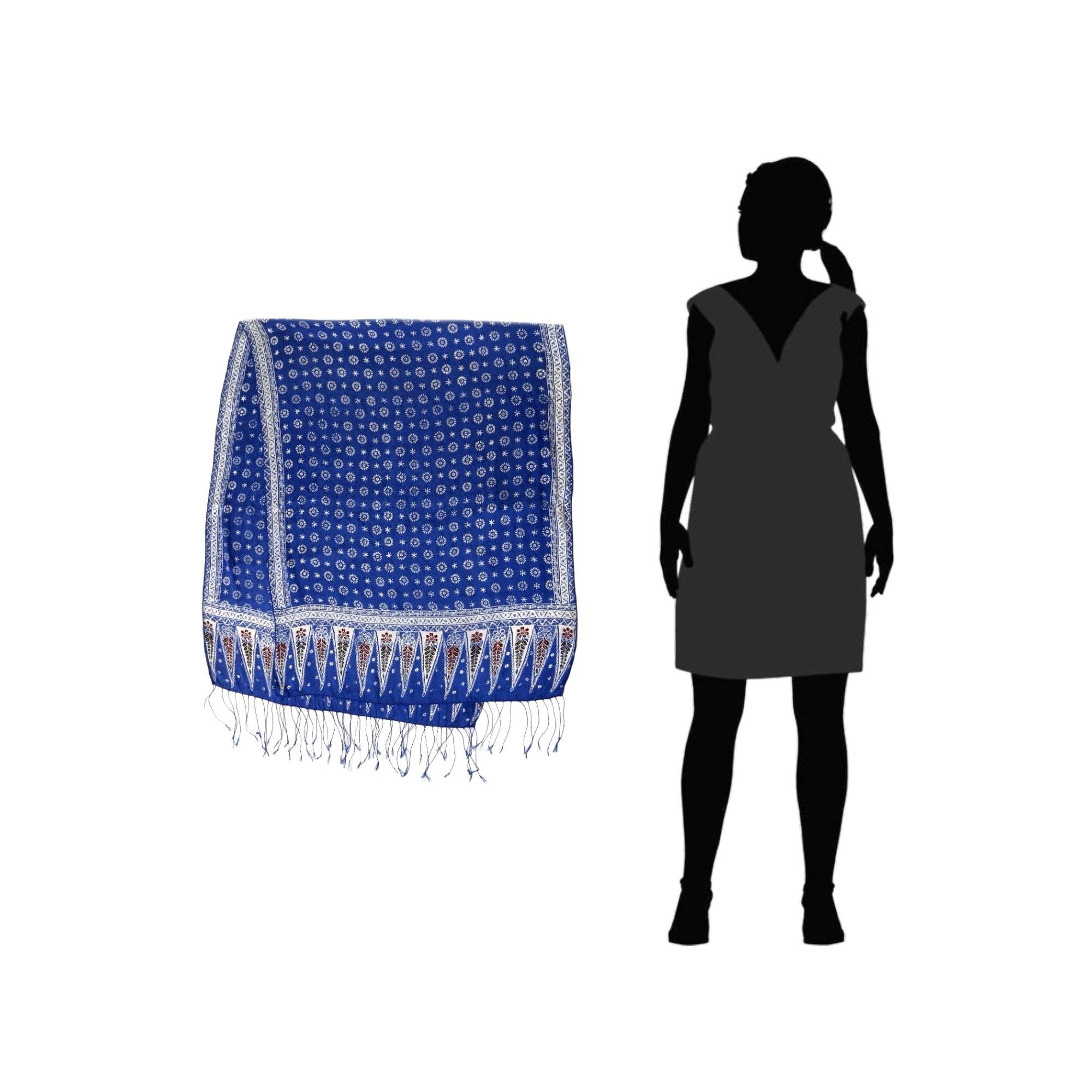 Shop Handmade Silk Awakening Batik Scarf Indonesia On Sale Hoc Store French Cuff Free Shipping Orders Over 45 3318751