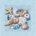 Shells on Blue Counted Cross Stitch Kit