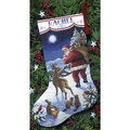 Santa's Arrival Stocking Counted Cross Stitch Kit