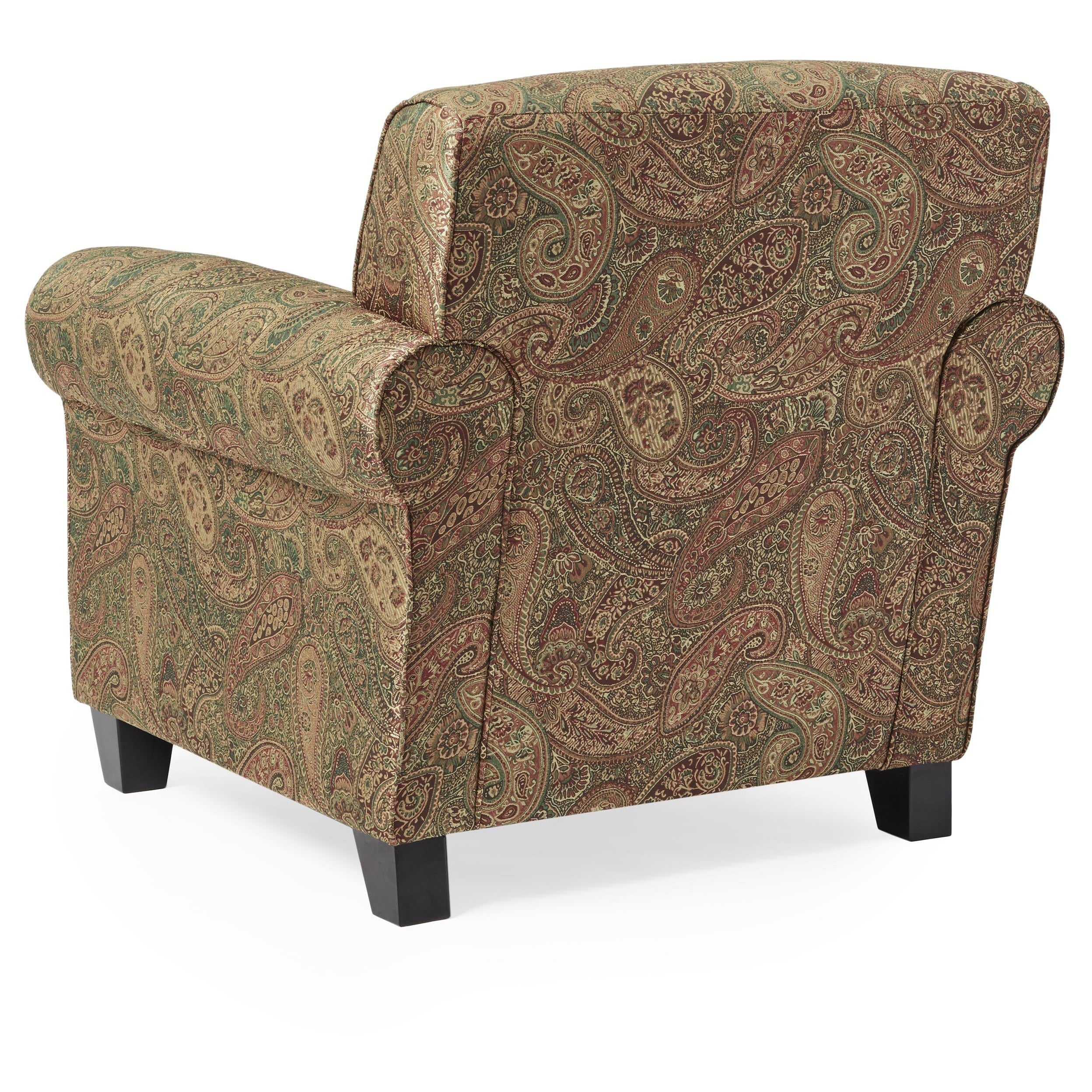 Delightful Portfolio Mira 8 Way Hand Tied Paisley Arm Chair And Ottoman   Free  Shipping Today   Overstock   11440034