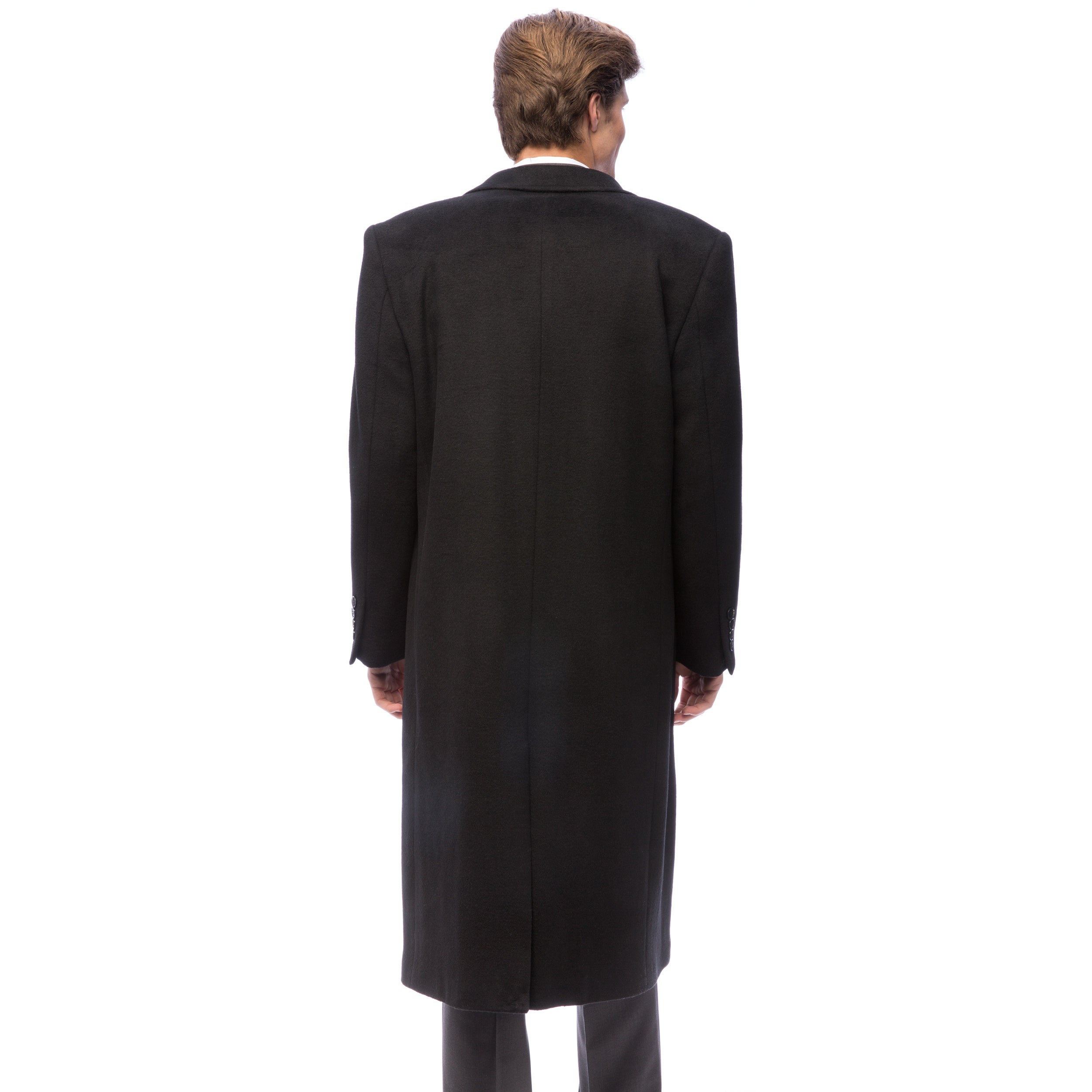 512525e66f1 Shop Red Label Wool and Cashmere Black Overcoat - Free Shipping Today -  Overstock - 3355520