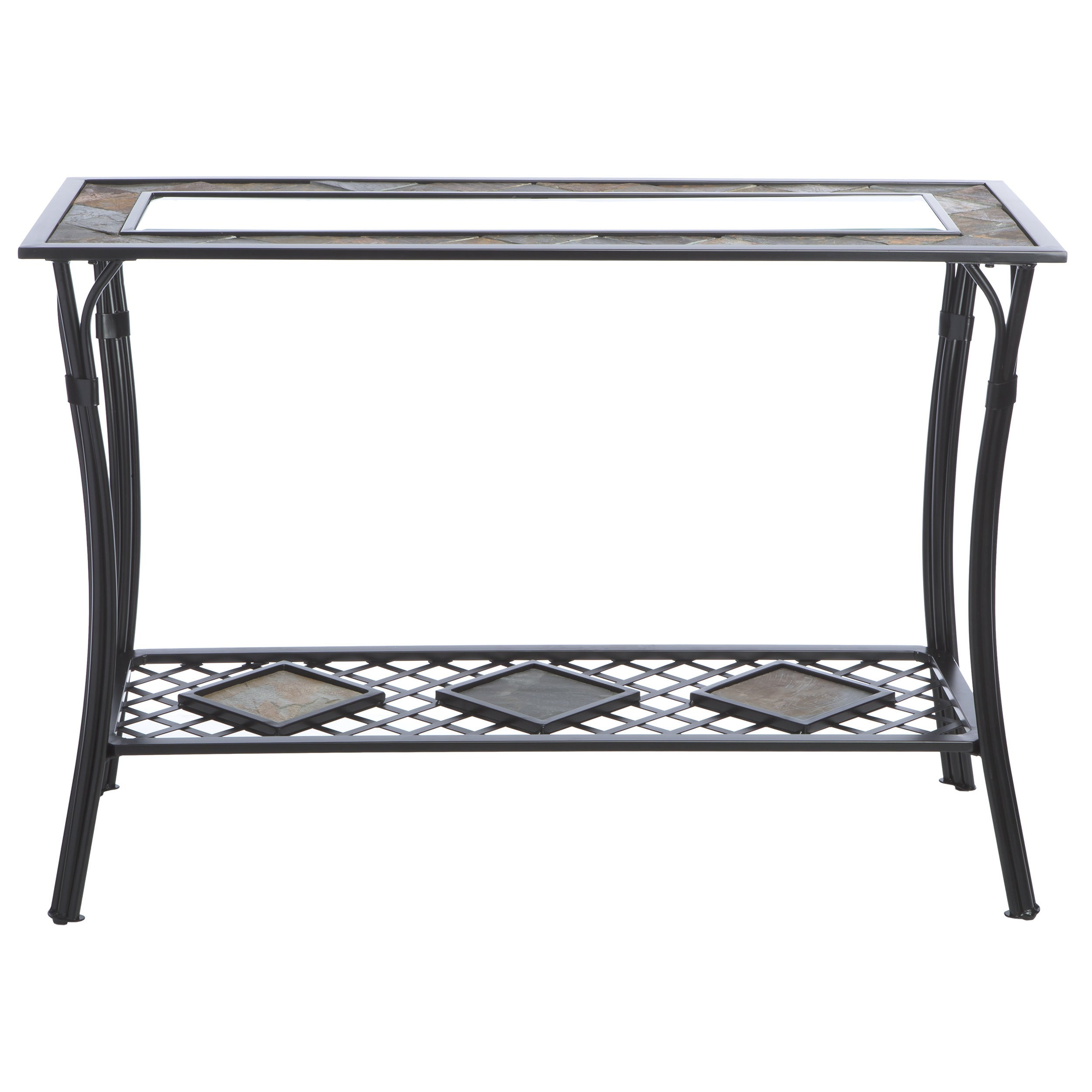 Shop Copper Grove Slate/ Glass/ Steel Sofa Table   Free Shipping Today    Overstock.com   3356598