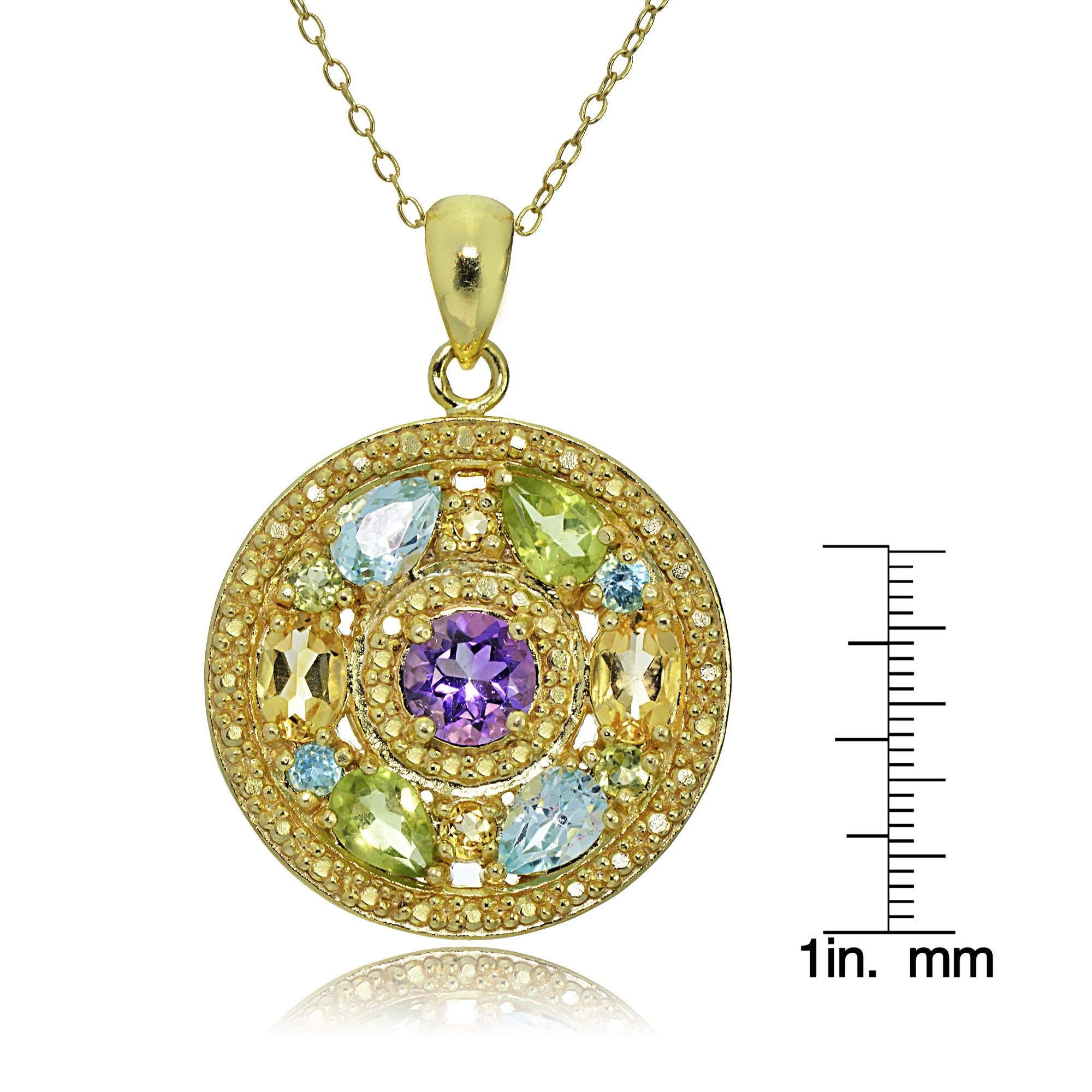 in gemstone gold multi drop garden filled necklace colorful precious the design