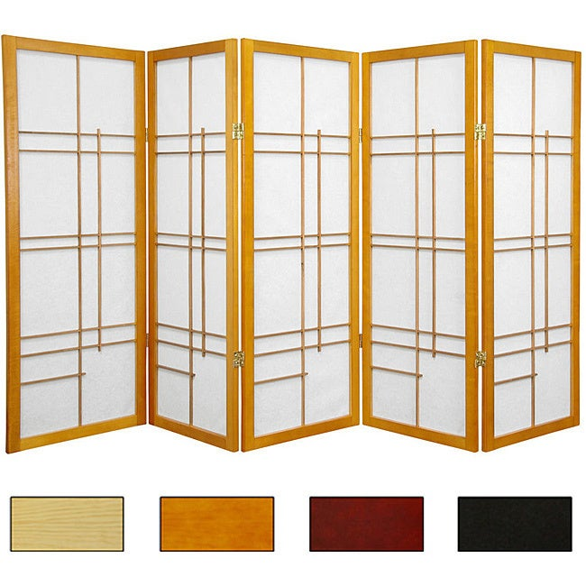 Handmade Wood And Rice Paper Eudes 48 Inch Shoji Screen China X 70 Free Shipping Today 3378838