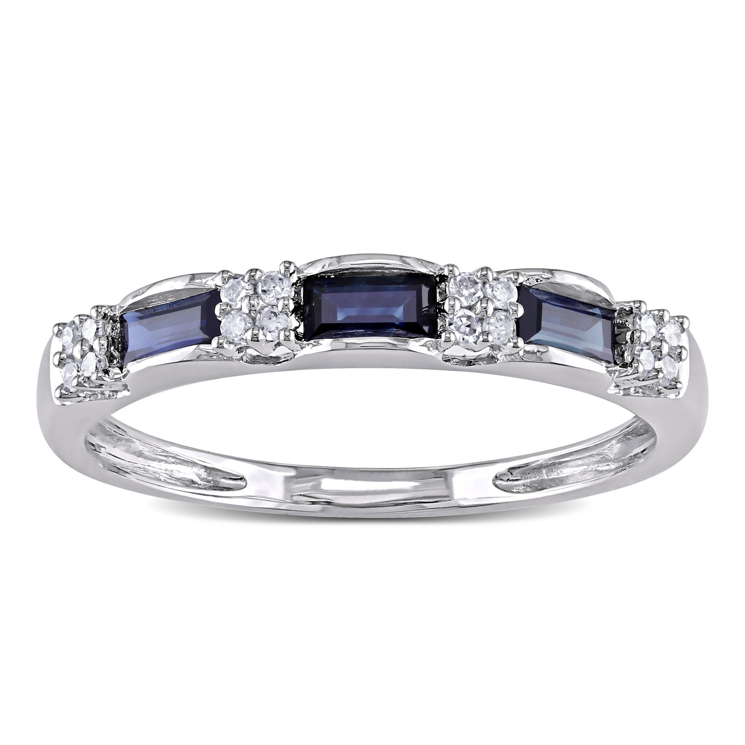 modern ring sapphire engagement blue diamond rings product image