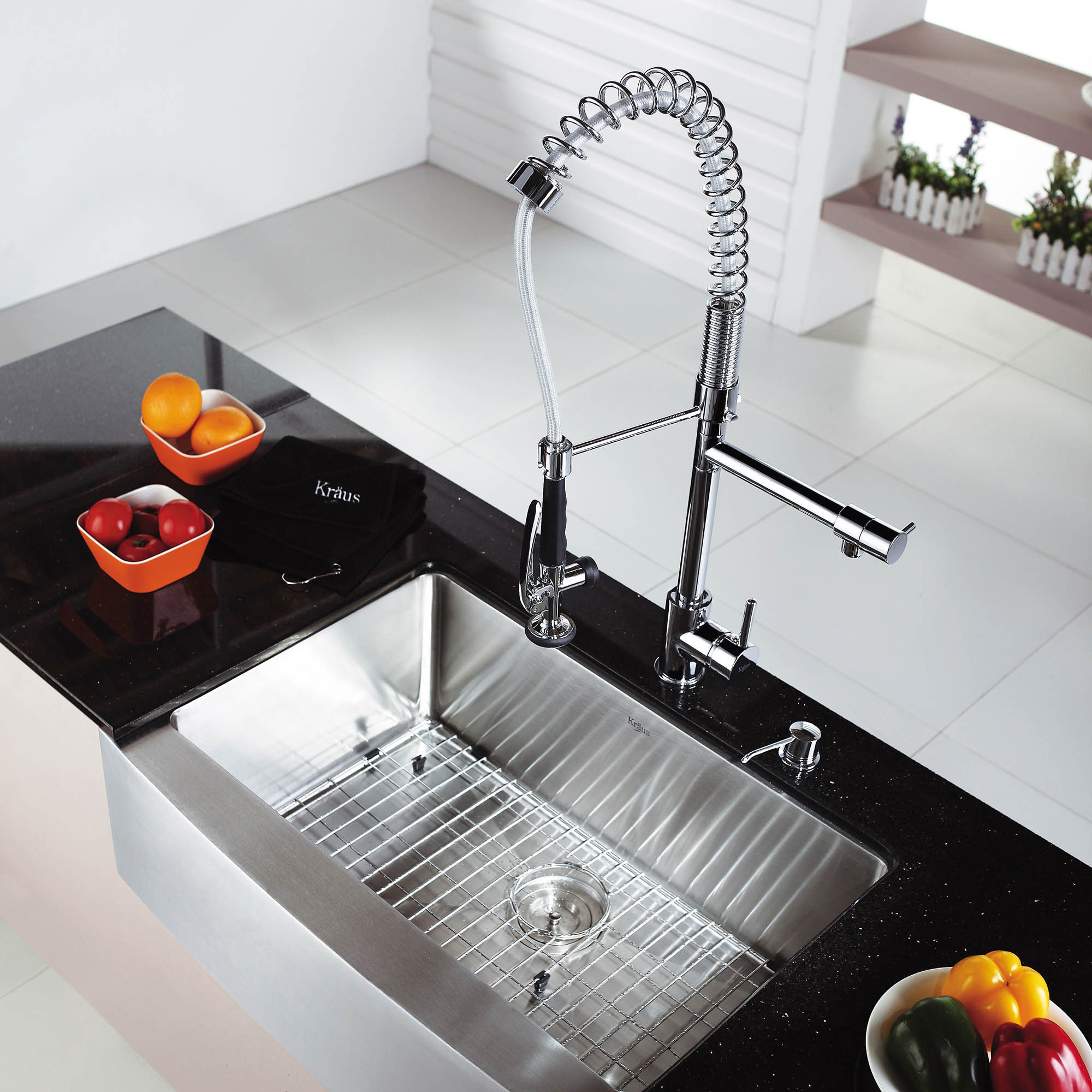 Kraus 30 Inch Farmhouse Single Bowl Stainless Steel Kitchen Sink With Noisedefend Soundproofing Free Shipping Today 11477700