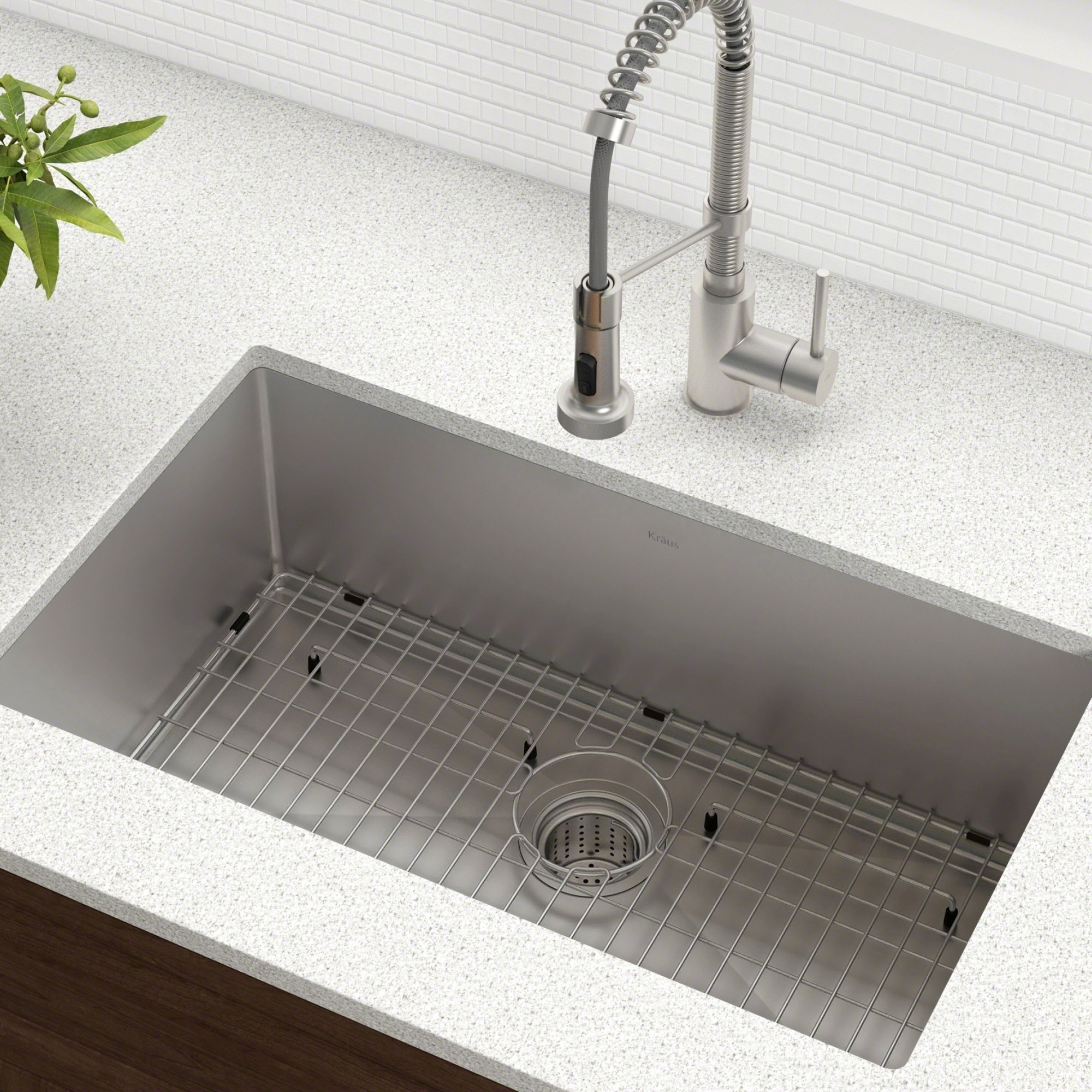 Kraus 30 inch undermount single bowl 16 gauge stainless steel kraus 30 inch undermount single bowl 16 gauge stainless steel kitchen sink with noisedefend soundproofing free shipping today overstock 11477701 workwithnaturefo