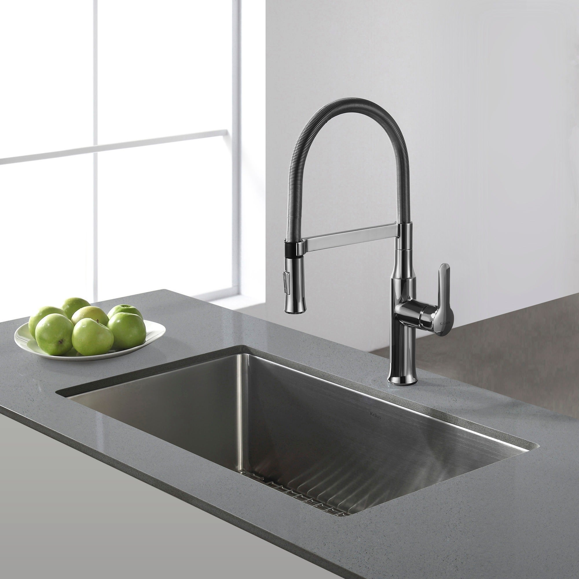 Shop Kraus KHU100 30 Standart PRO Undermount 30 Inch 16 Gauge Single Bowl  Satin Stainless Steel Kitchen Sink   Free Shipping Today   Overstock.com    3381330