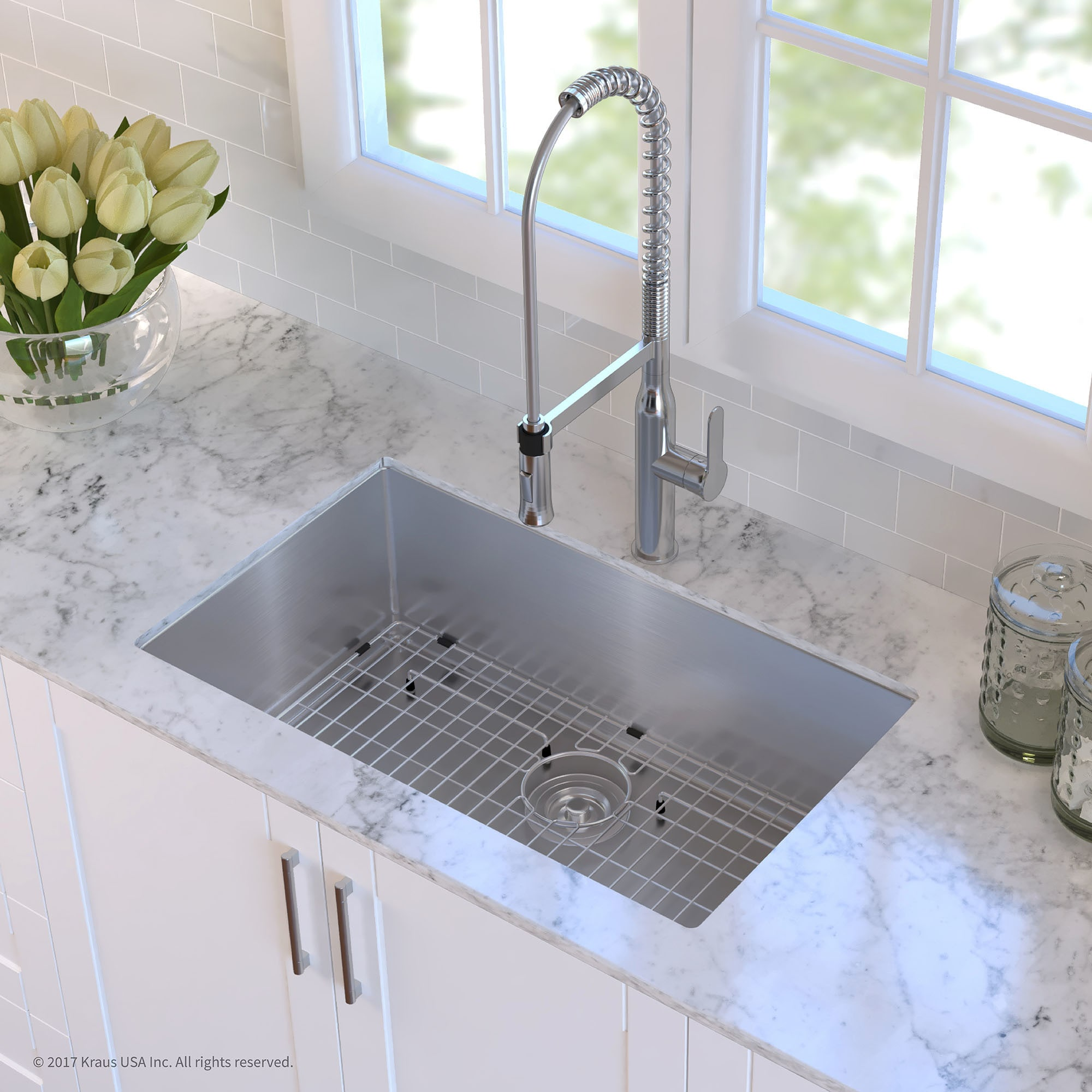 30 inch kitchen sink top mount shop kraus khu10030 standart pro undermount 30inch 16 gauge single bowl satin stainless steel kitchen sink free shipping today overstockcom 3381330