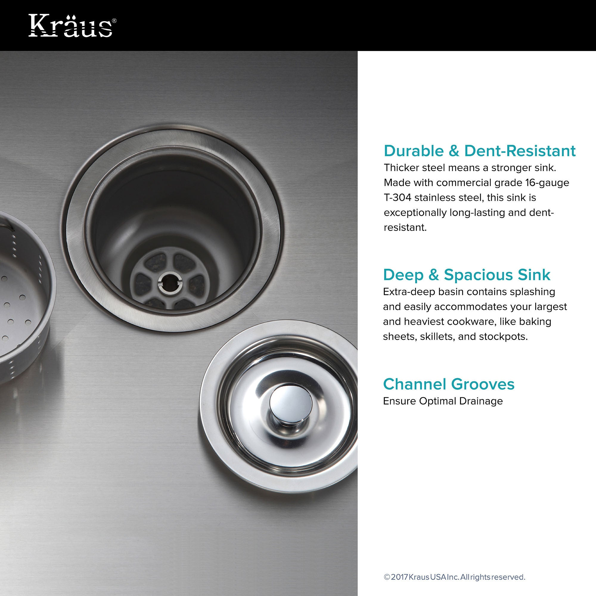 Shop Kraus Khu100 30 Standart Pro Undermount Inch 16 Gauge Single Garbage Disposal Decorator Switch Bowl Satin Stainless Steel Kitchen Sink Free Shipping Today 3381330