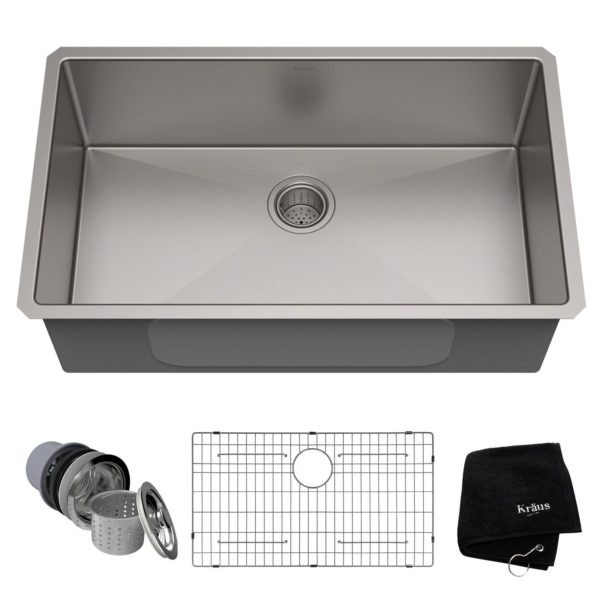 Swell Kraus Khu100 32 Undermount 32 Inch 1 Bowl Stainless Steel Kitchen Sink Download Free Architecture Designs Scobabritishbridgeorg