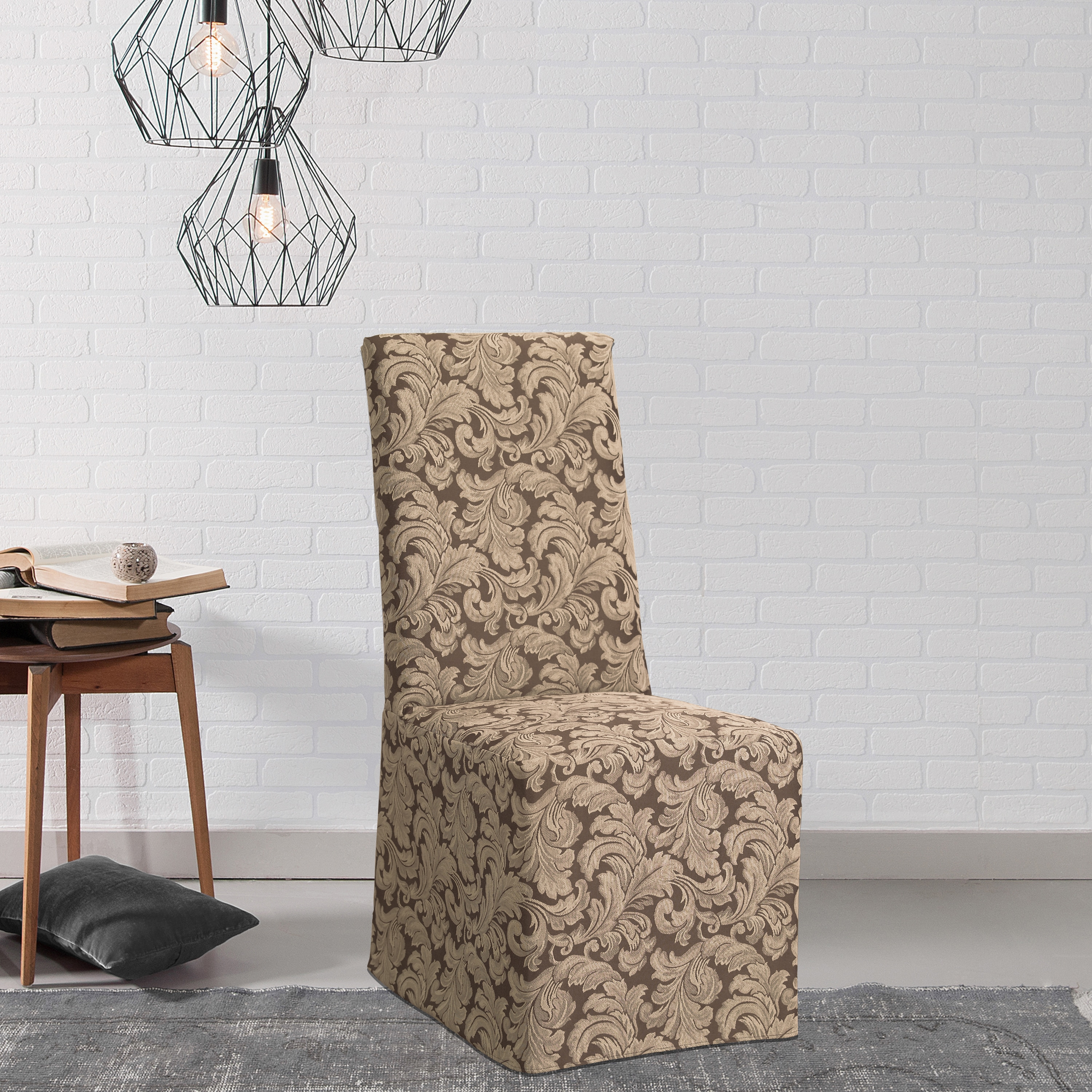Shop Sure Fit Scroll Dining Room Chair Slipcover   Free Shipping On Orders  Over $45   Overstock.com   3398197