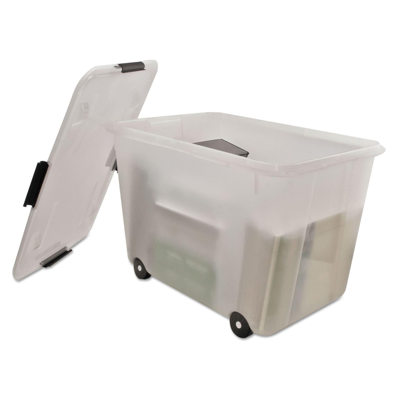 Shop Advantus Clear 15 gallon Rolling Storage Box Free Shipping