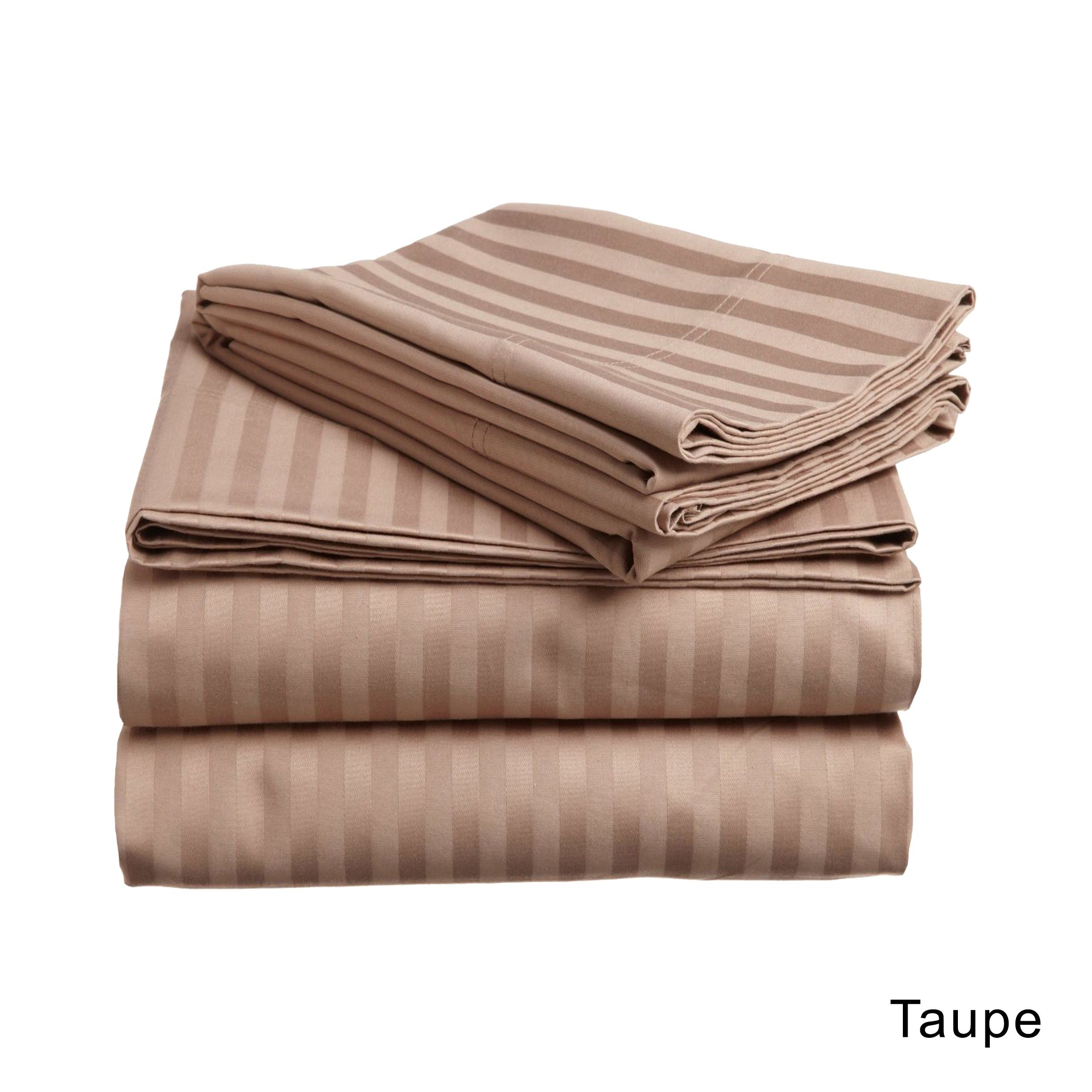 Shop Superior Egyptian Cotton 650 Thread Count Olympic Queen Stripe Sheet  Set   On Sale   Free Shipping Today   Overstock.com   3417147