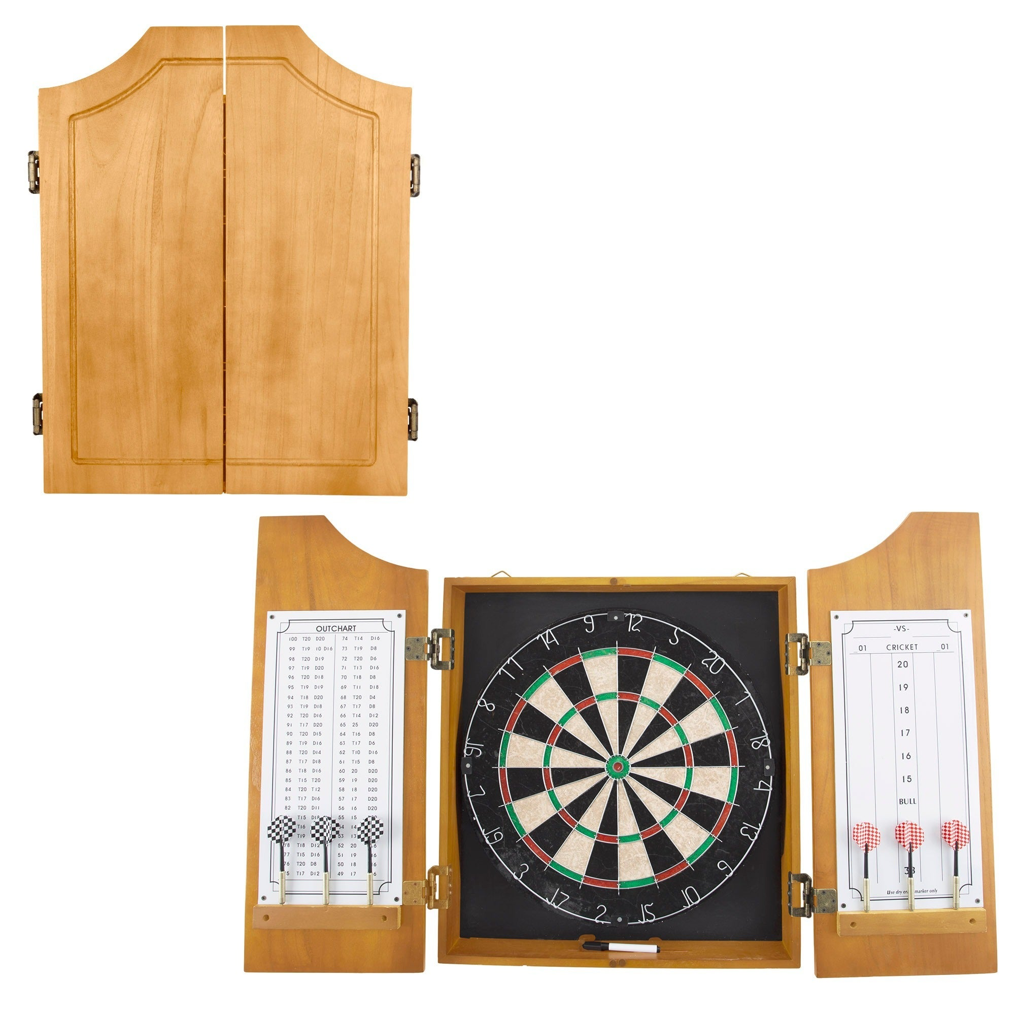 Shop All American Solid Pine Dart Board And Cabinet   Free Shipping Today    Overstock.com   3421052