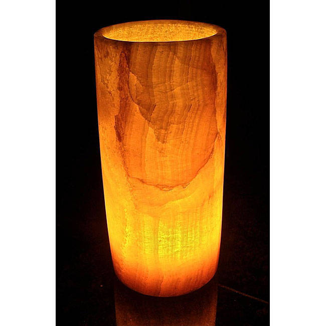Handmade Alabaster Cylinder Lamp (Egypt)   Free Shipping Today    Overstock.com   11515190