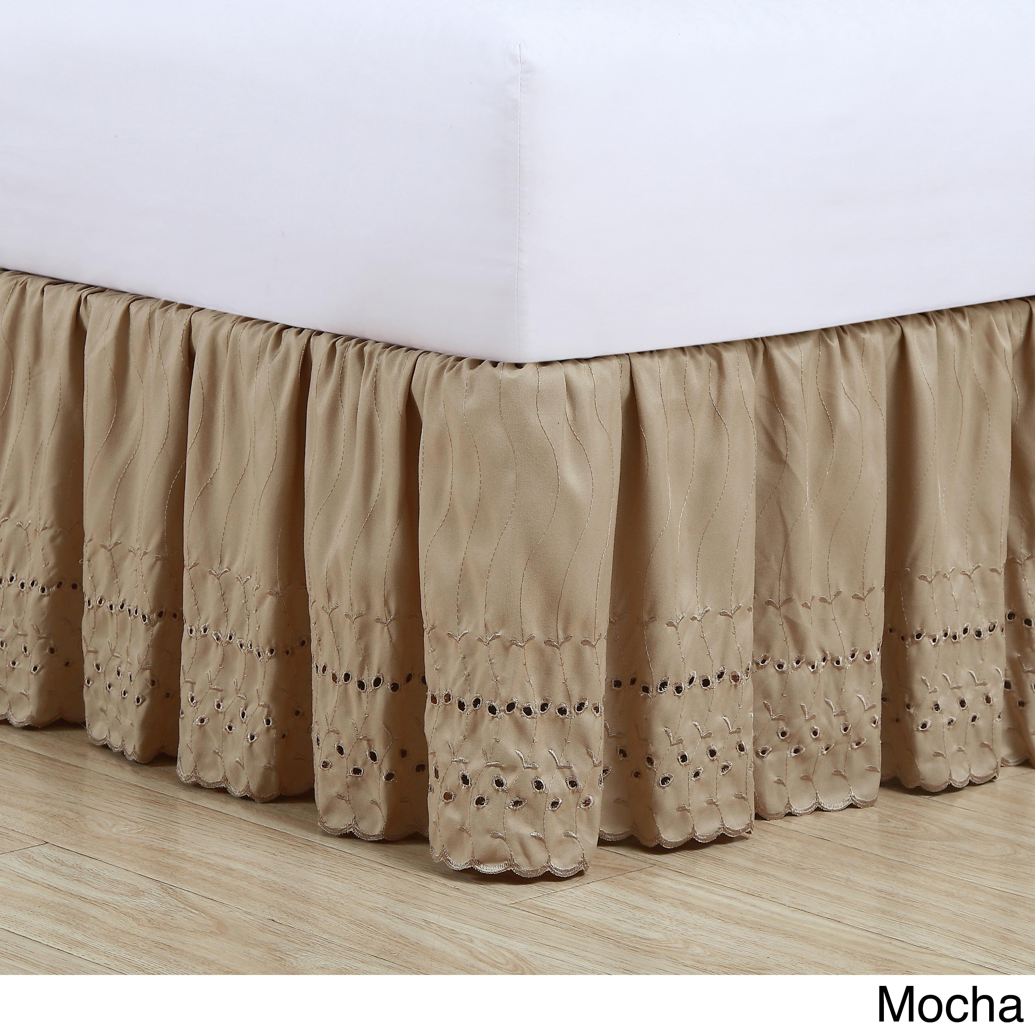 Fresh Ideas Lauren Heirloom Ruffled Eyelet 14-inch Drop Bedskirt - Free  Shipping On Orders Over $45 - Overstock.com - 11520049