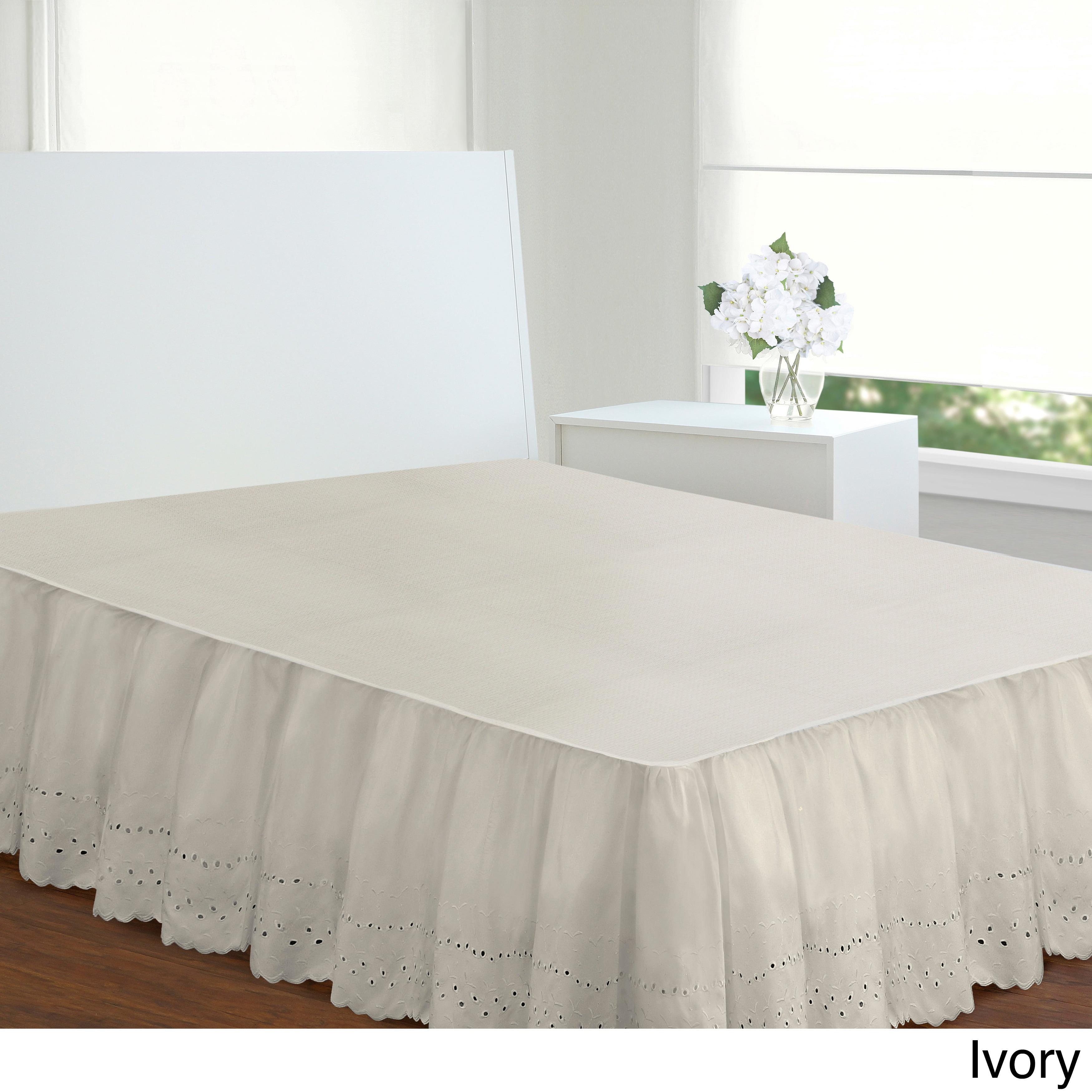 Fresh Ideas Lauren Heirloom Ruffled Eyelet 14 Inch Drop Bedskirt On Free Shipping Orders Over 45 3444058