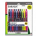 Sarasa Multi-colored Gel Retractable Rollerball Pens (Pack of 10)