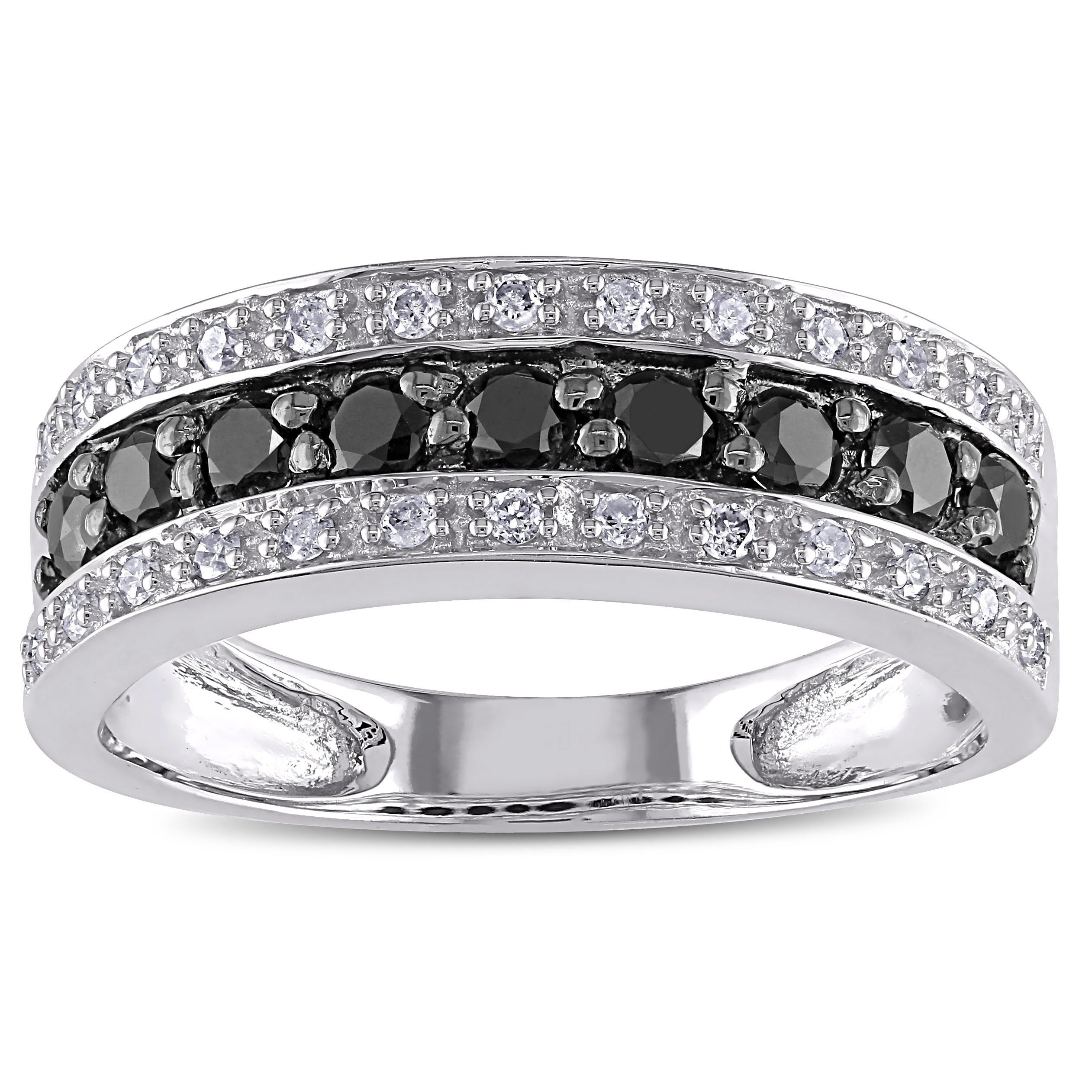 free shipping black over silver jewelry infinity cross product ring sterling watches today diamond miadora and overstock white